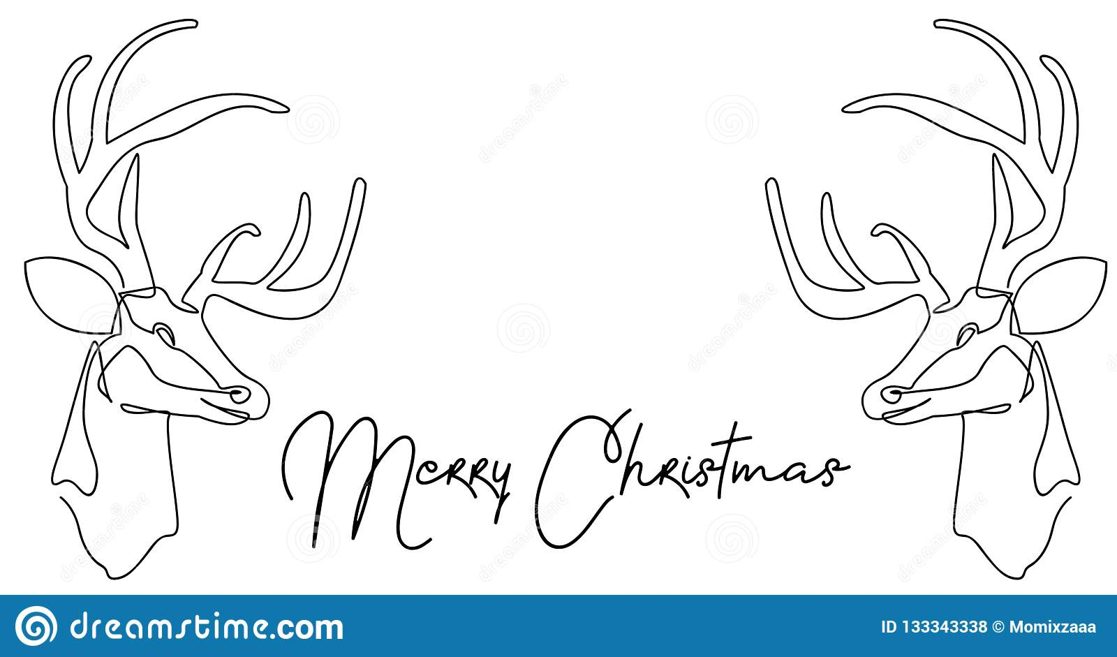 Continuous Line Drawing Of Santa Claus Sitting On A Sleigh