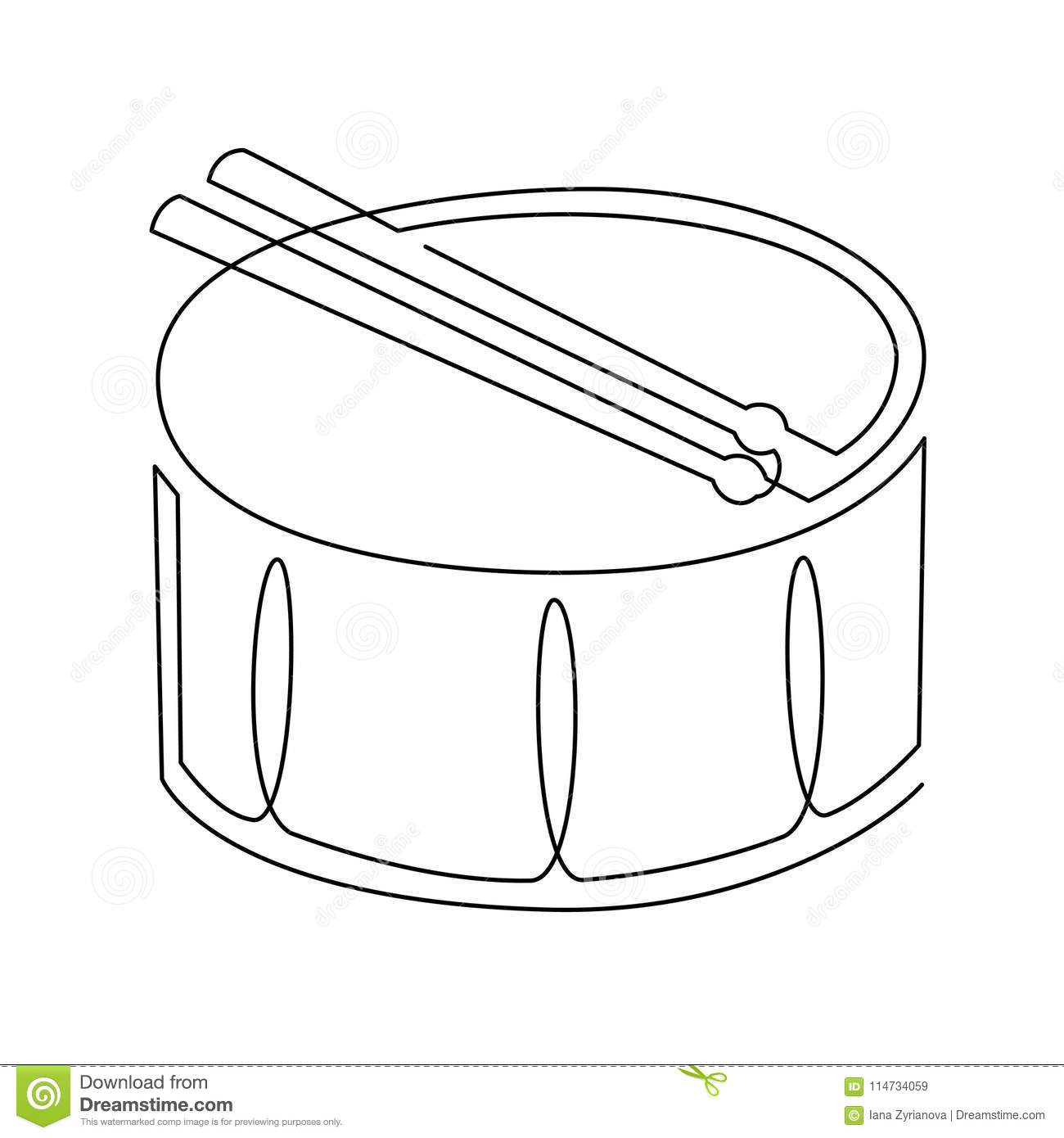 Continuous line drawing of snare drum vector icon musical download comp stopboris Image collections