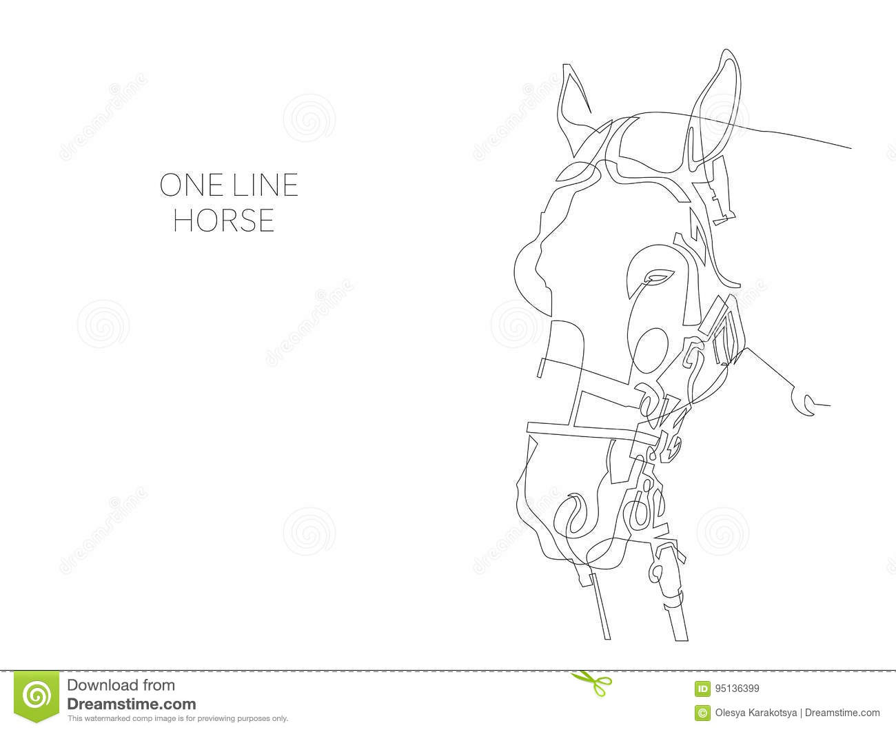 Vector Drawing Lines Xbox One : Elegant white horse vector drawing illustration