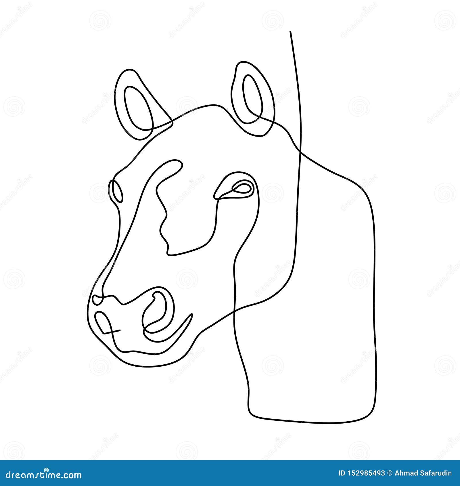 Continuous One Line Horse Head Minimalist Design Vector Illustration Minimalism Style Stock Vector Illustration Of Tattoo Happy 152985493