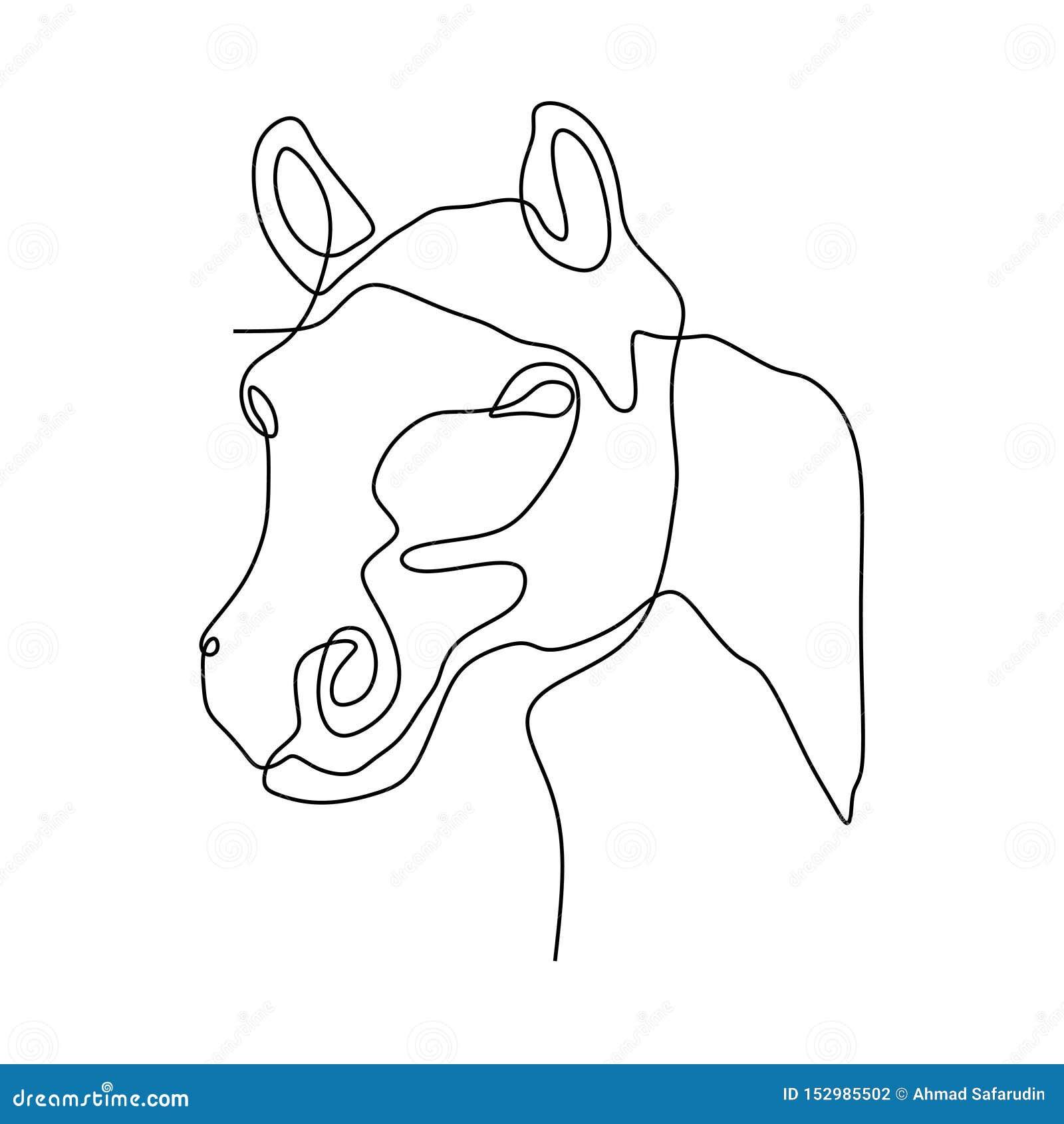 Continuous One Line Horse Head Minimalist Design Vector Illustration Minimalism Style Stock Vector Illustration Of Vector Drawn 152985502