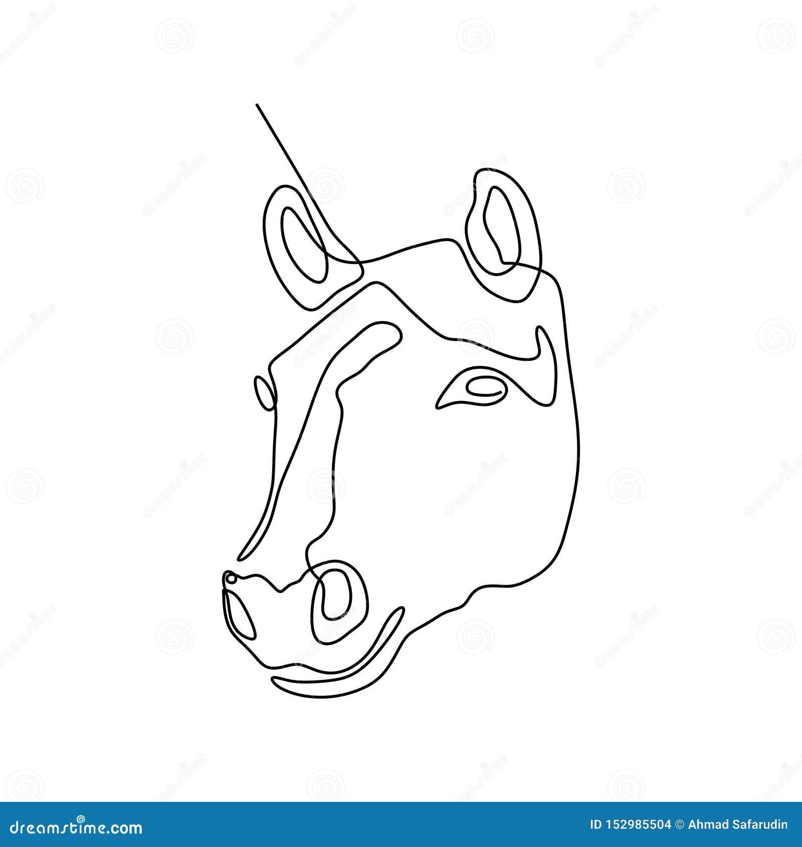 Continuous One Line Horse Head Minimalist Design Vector Illustration Minimalism Style Stock Vector Illustration Of Drawn Animals 152985504