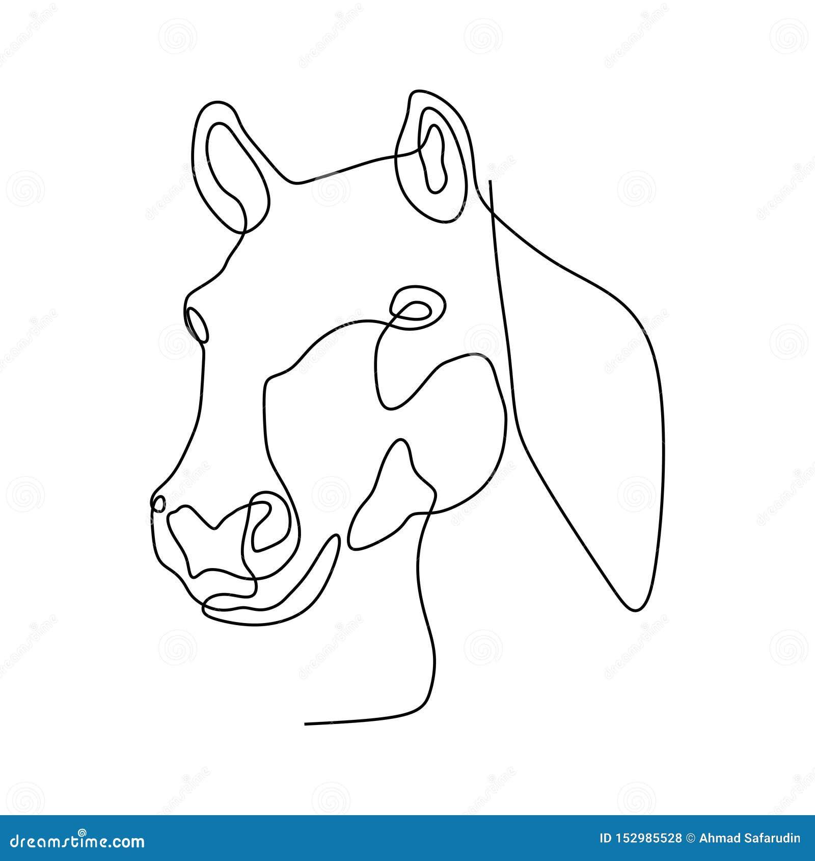 Continuous One Line Horse Head Minimalist Design Vector Illustration Minimalism Style Stock Photo Image Of Nice International 152985528