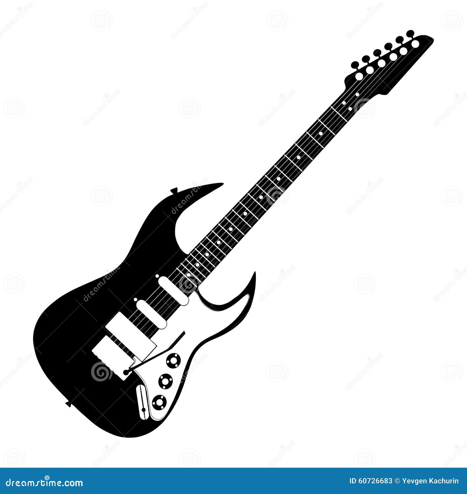 Contorno De La Guitarra Eléctrica Ilustración del Vector ...