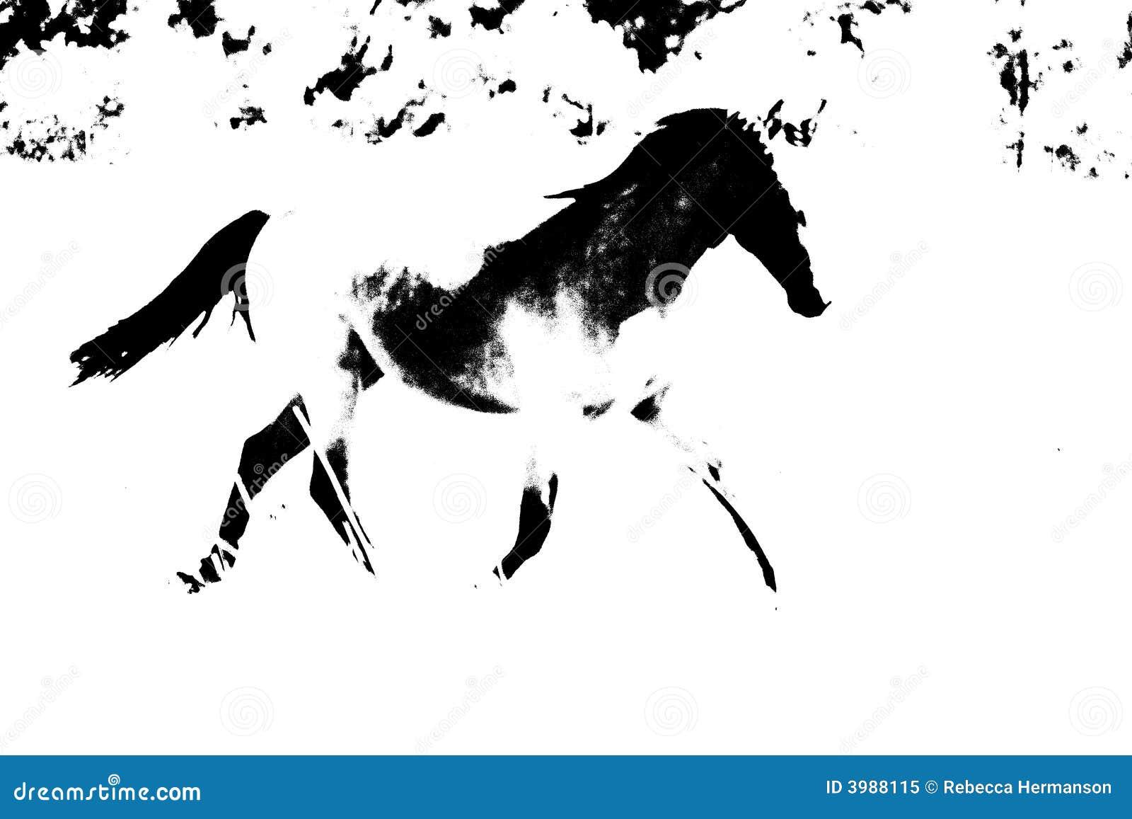 Contour abstrait de cheval