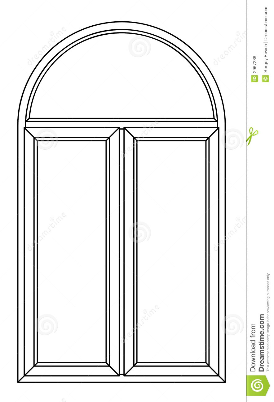 Contour Arch Window Stock Illustration Illustration Of