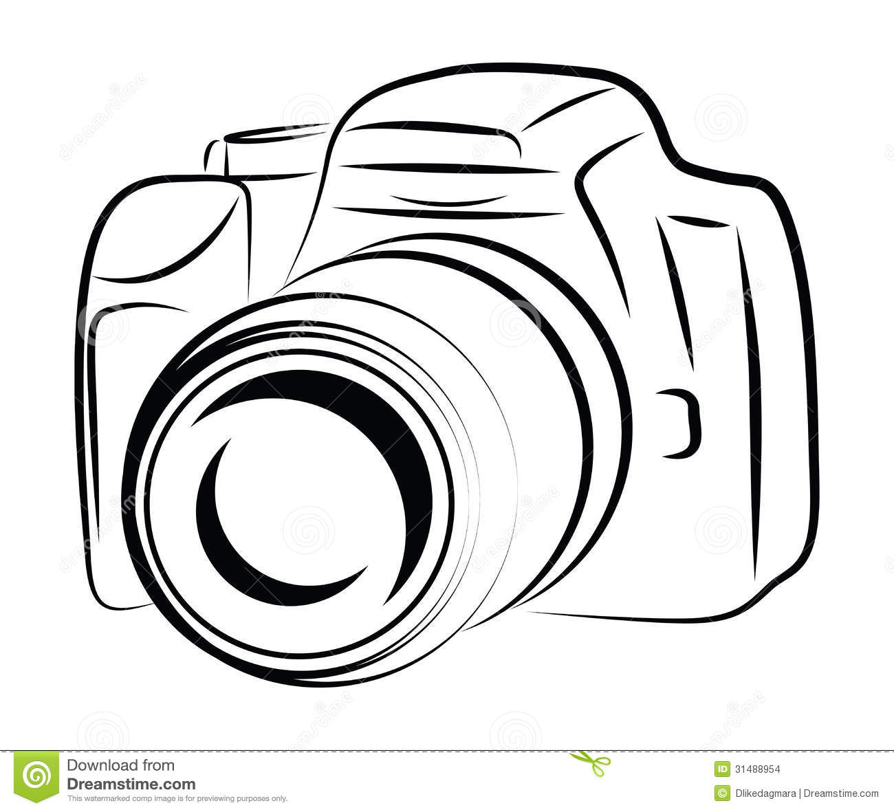 Contour Camera Drawing Stock Images Image 31488954