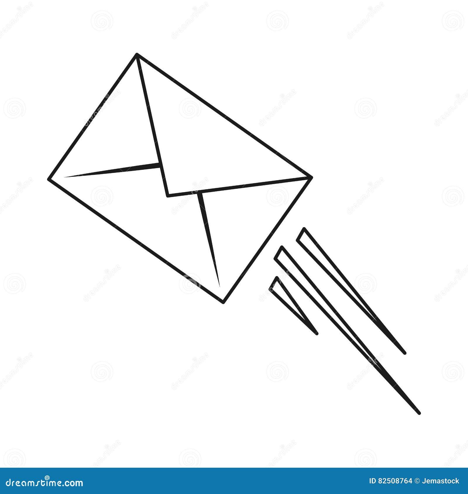 Dessin D Enveloppe contour d'enveloppe d'email de courrier express illustration de