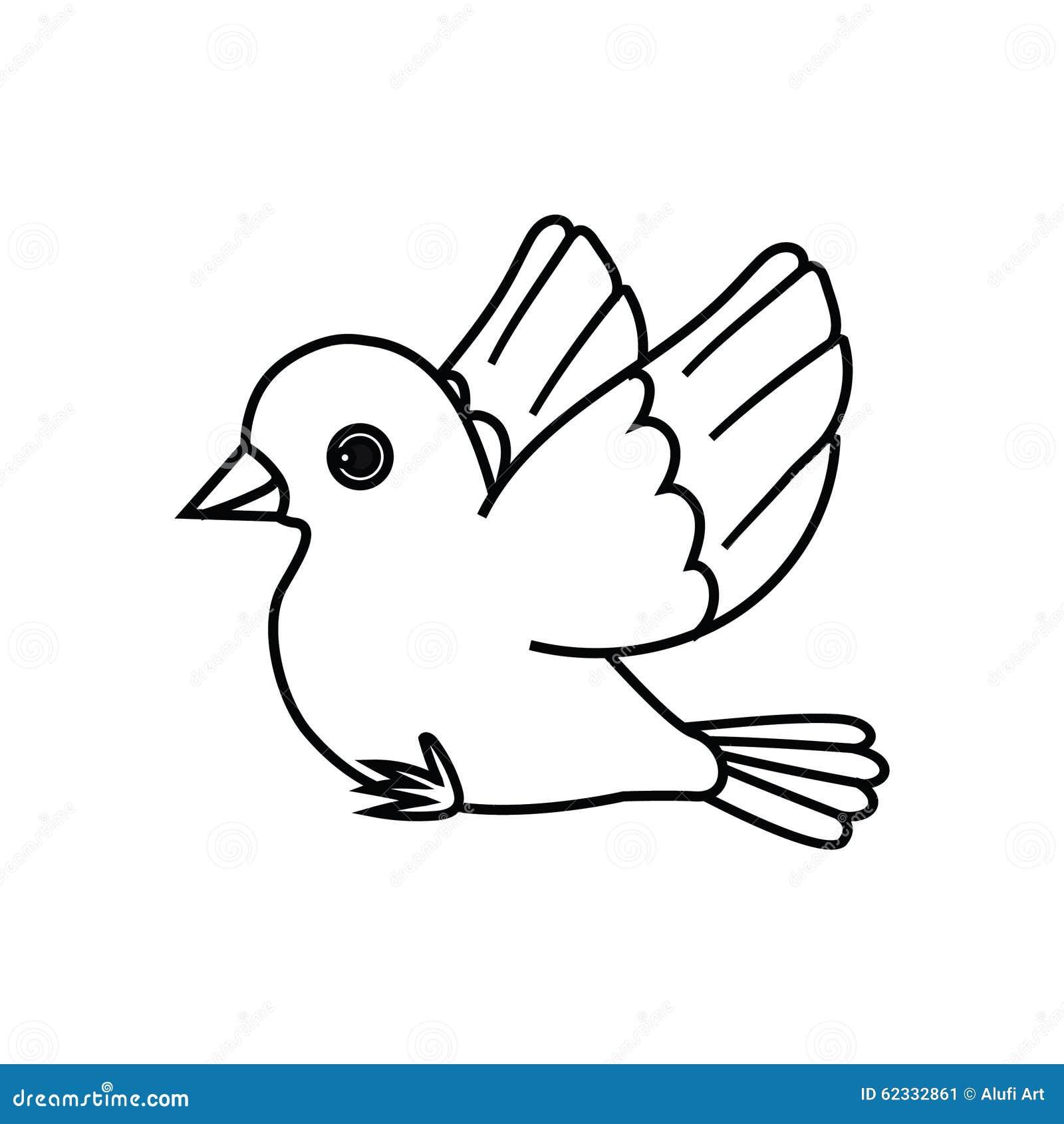 Contour d oiseau de vol (préparez pour être perché)
