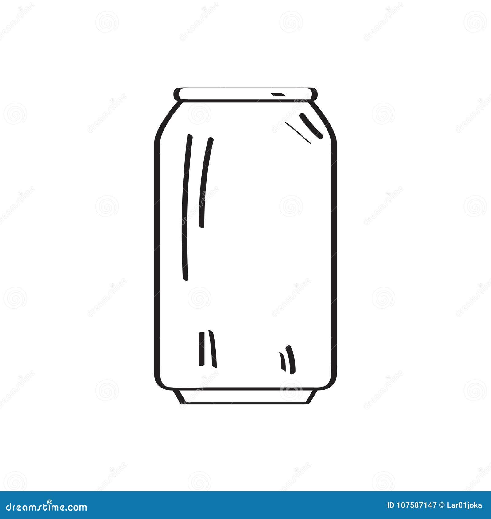 Contour de canette de bière