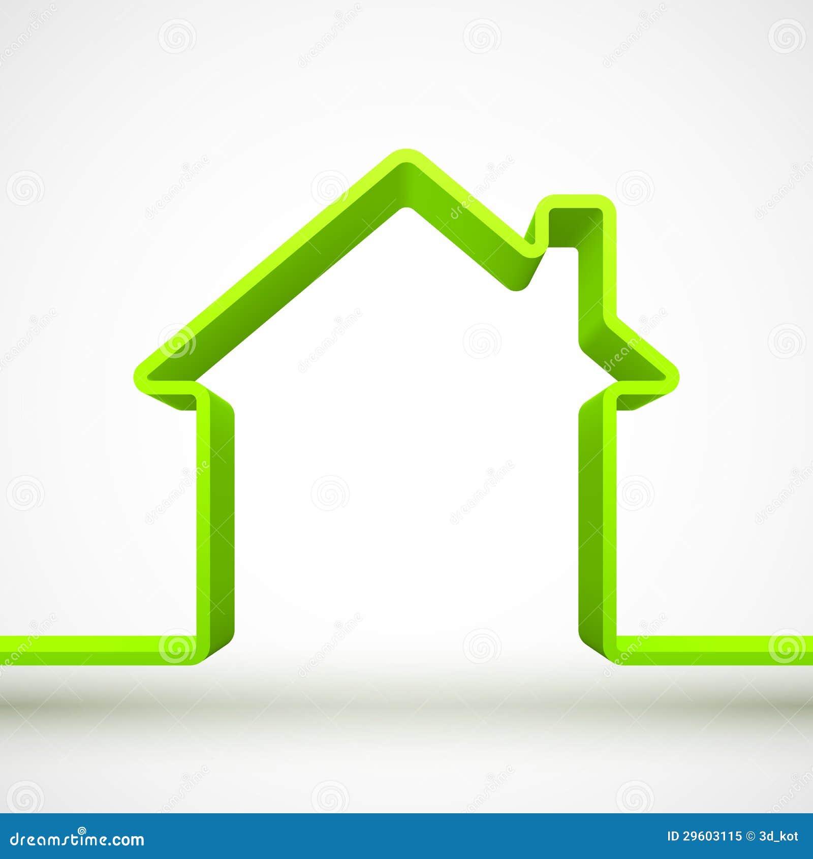 contour de maison verte photo libre de droits image 29603115. Black Bedroom Furniture Sets. Home Design Ideas