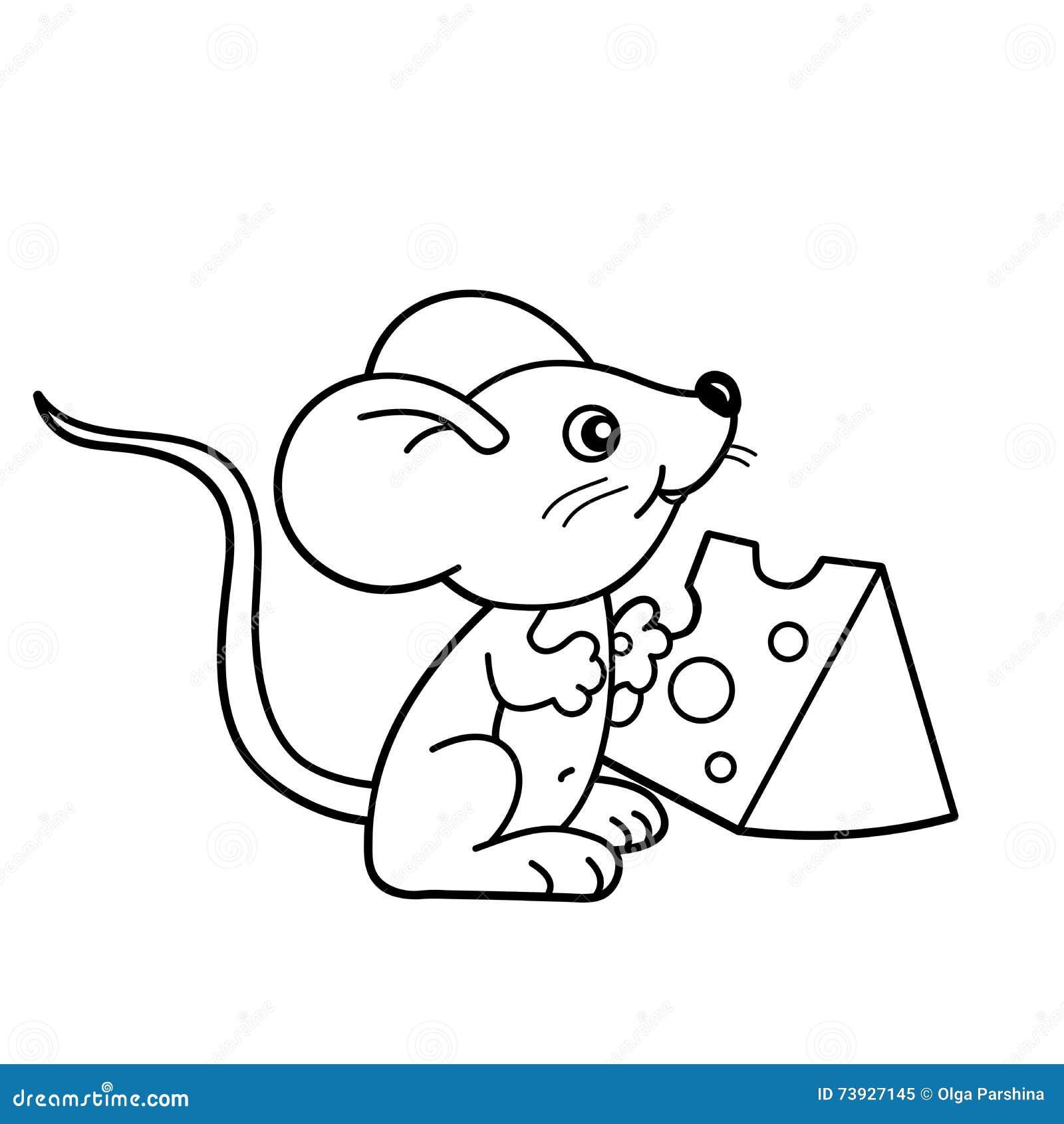 Contour de page de coloration de petite souris de bande - Dessin de petite souris ...