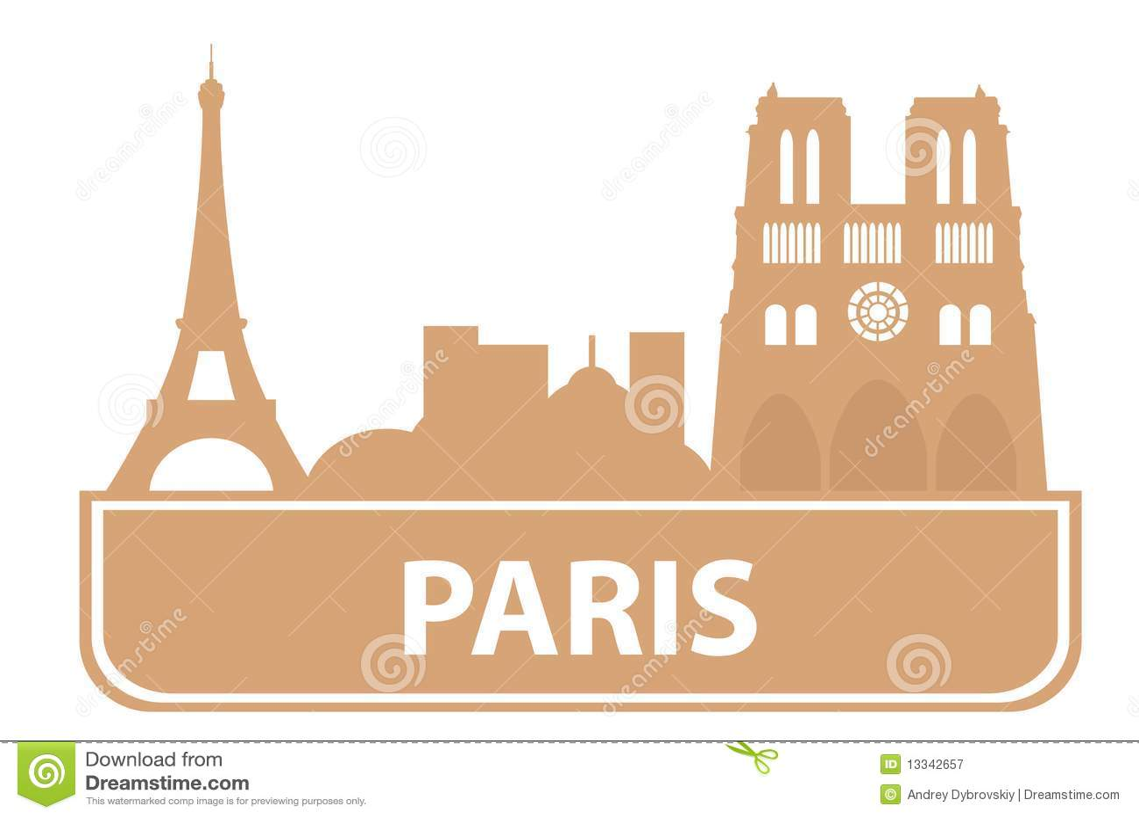 Contour de paris photographie stock libre de droits for Paris libre