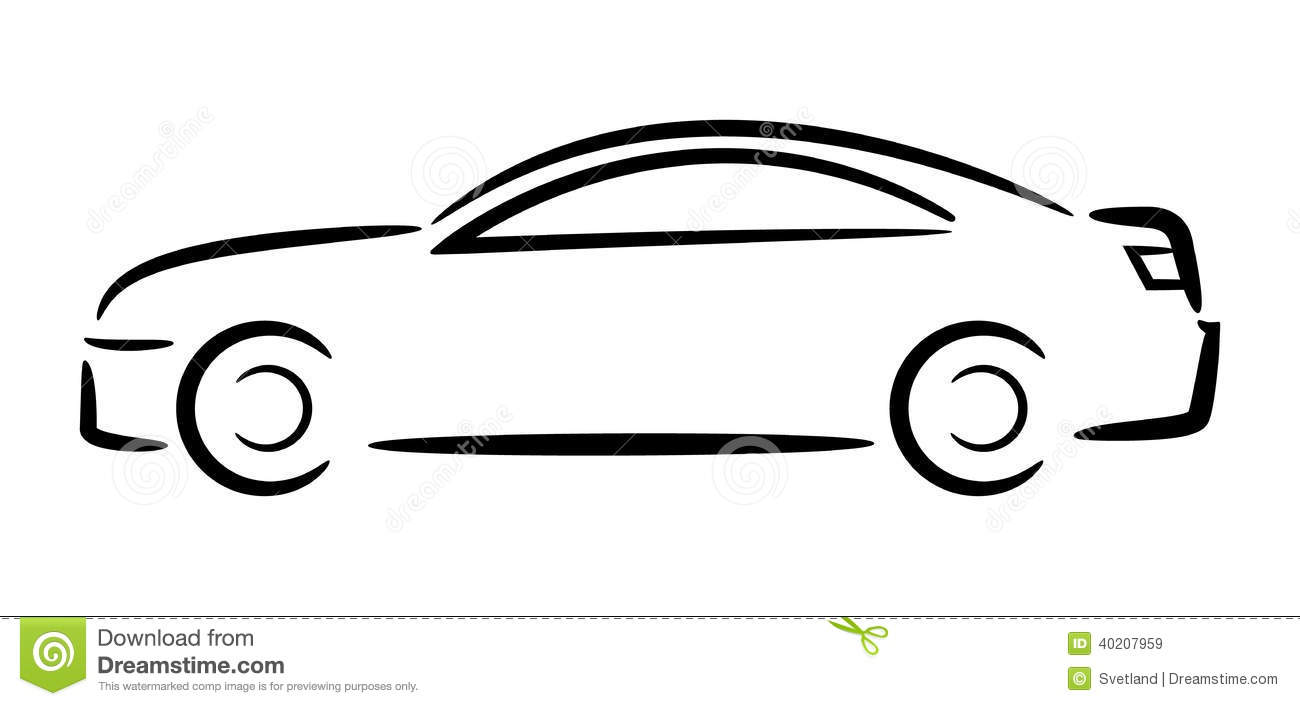 Sports Car Outline Side View