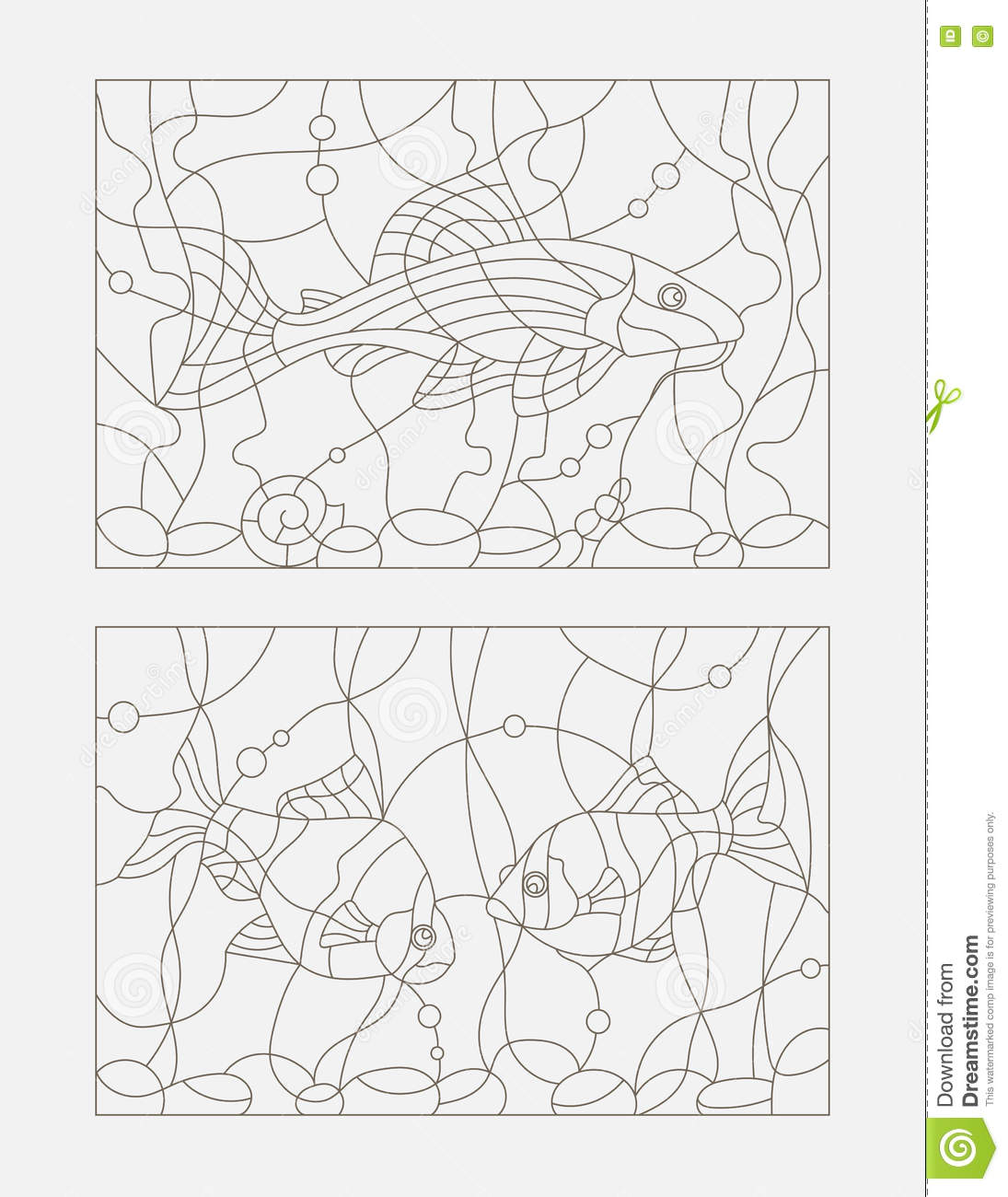 Contour Illustration Of Stained Glass 95a5f5c88