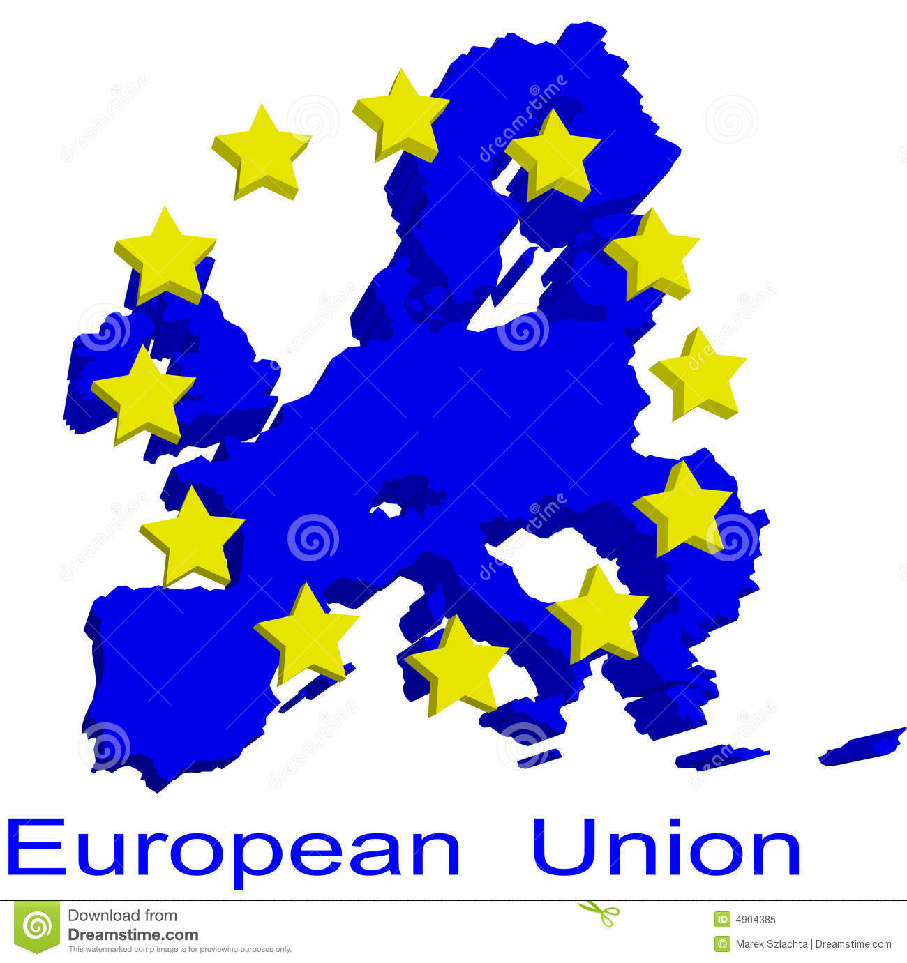 Contour Map Of European Union Stock Vector - Illustration of
