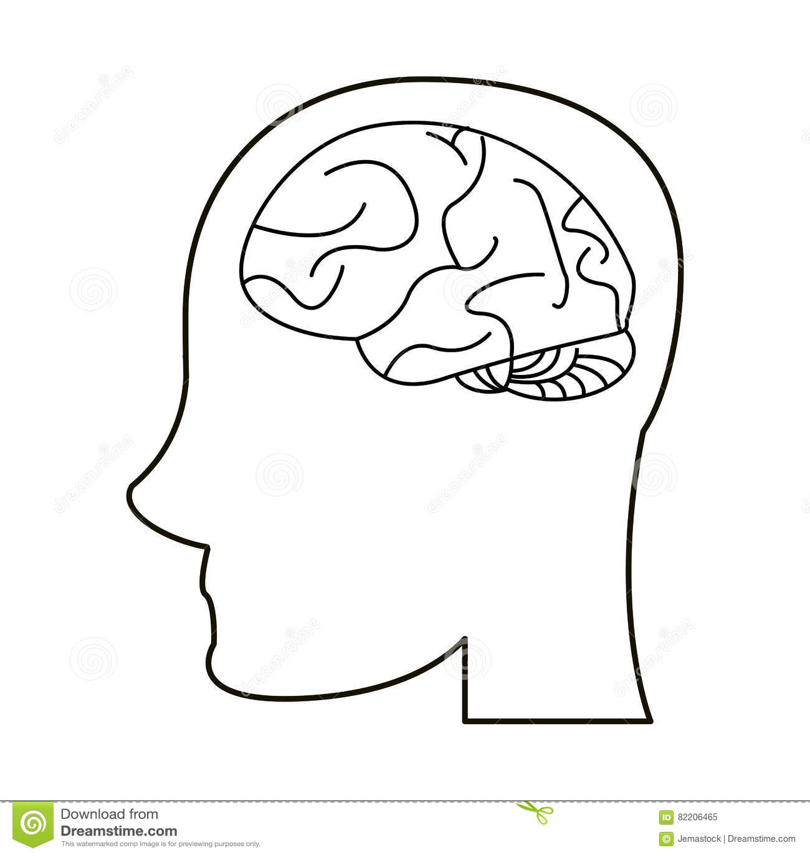 Idée De Photo De Profil contour principal d'imagination d'idée de cerveau de profil