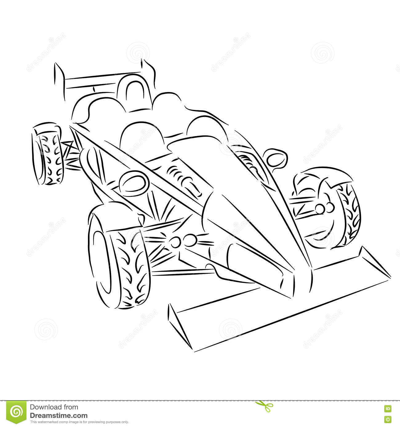 Contour Sports Car Stock Vector Illustration Of Racing 78041417