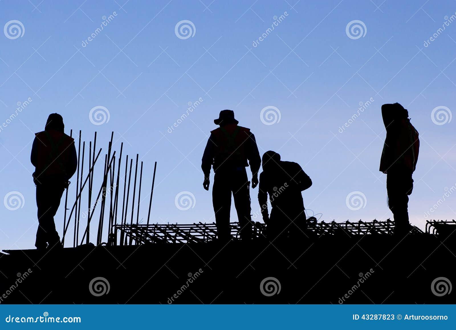 Contour van arbeiders