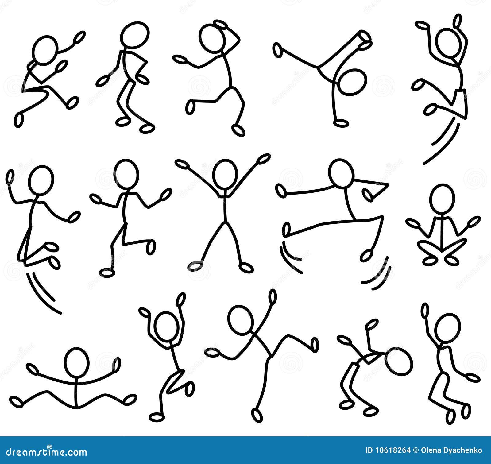 Движущийся человечек нарисованный
