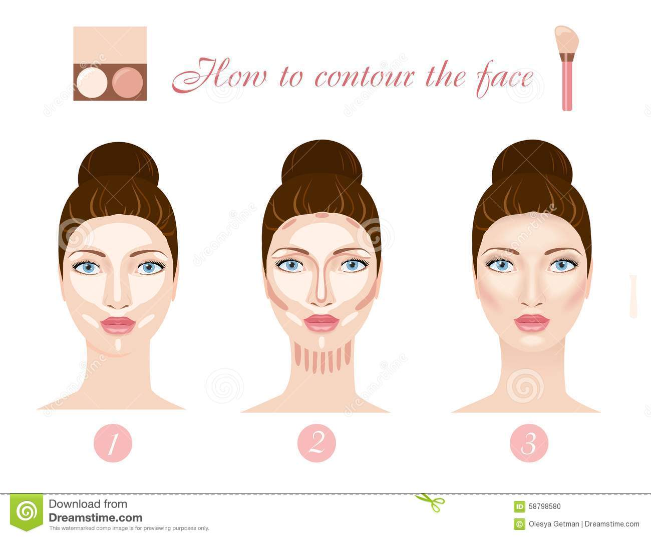How To Contour Your Face '�  Fabstylish Contouring The Face Vector  Contouring The Face Vector
