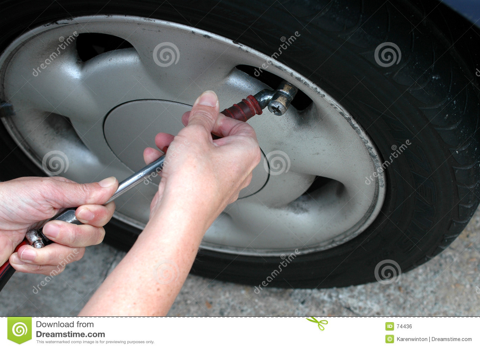 Contrôle de la pression de pneu