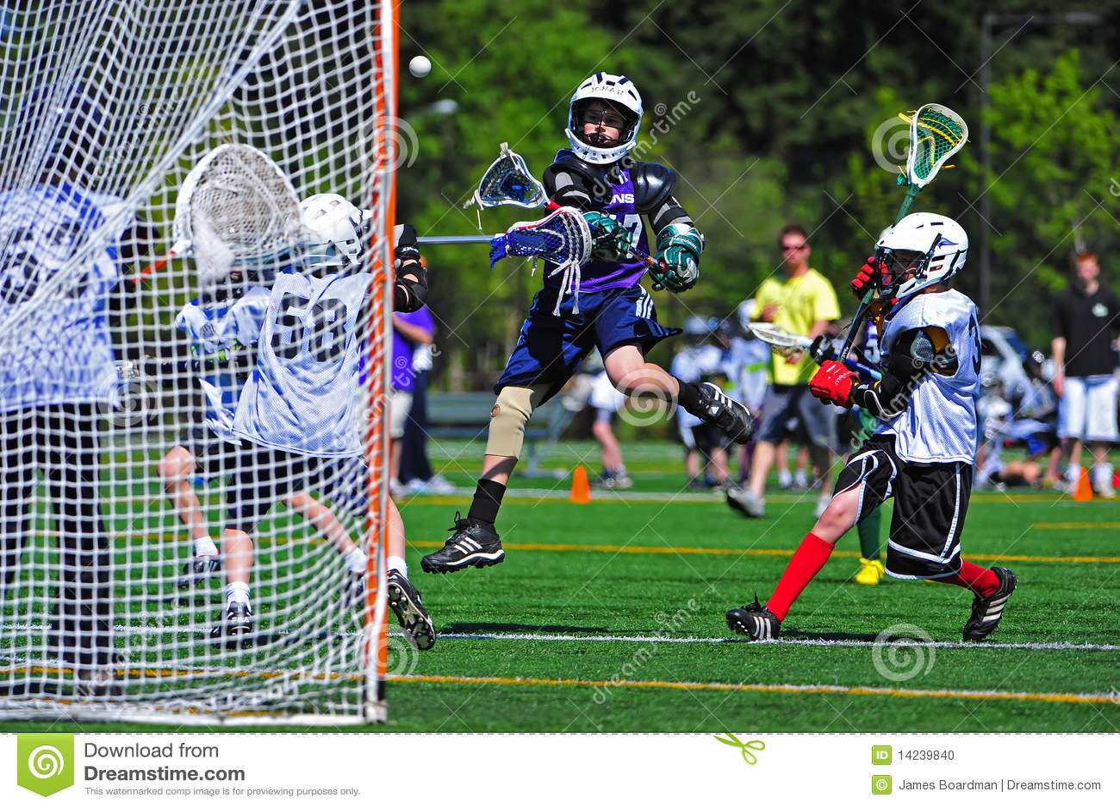 Contrôle de Lacrosse de la jeunesse de garçons
