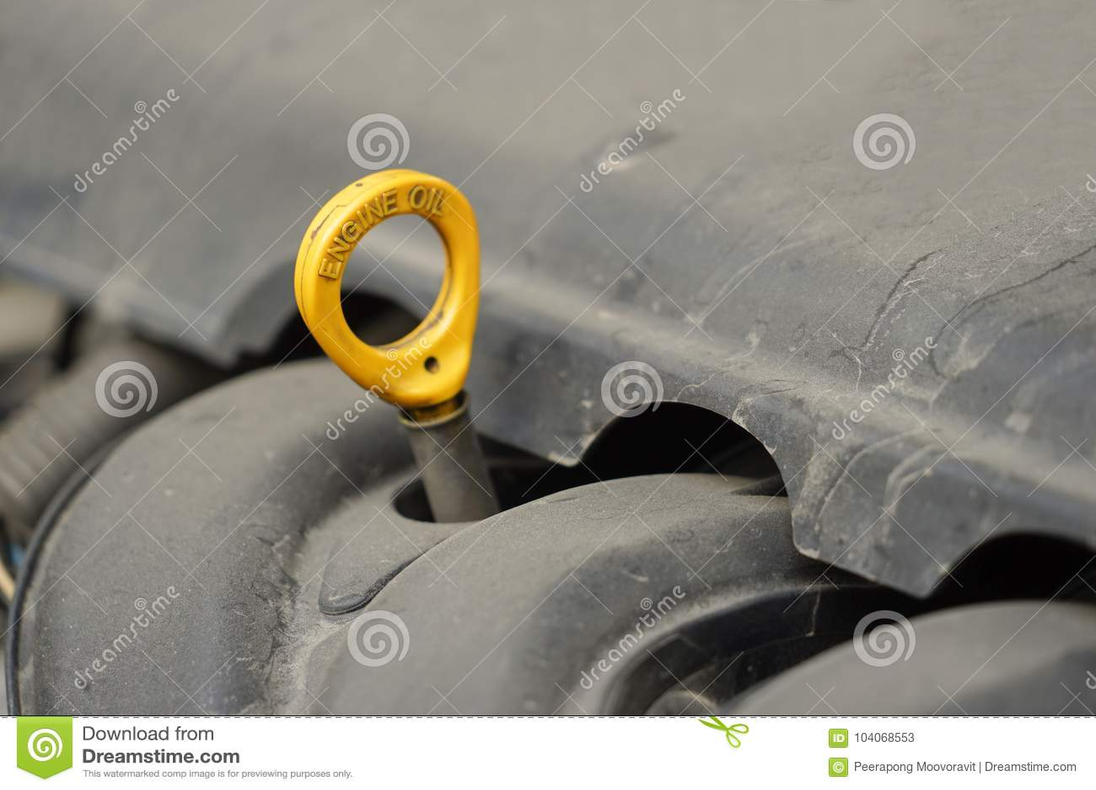 Contrôle des véhicules à moteur de moteur de niveau d huile d entretien