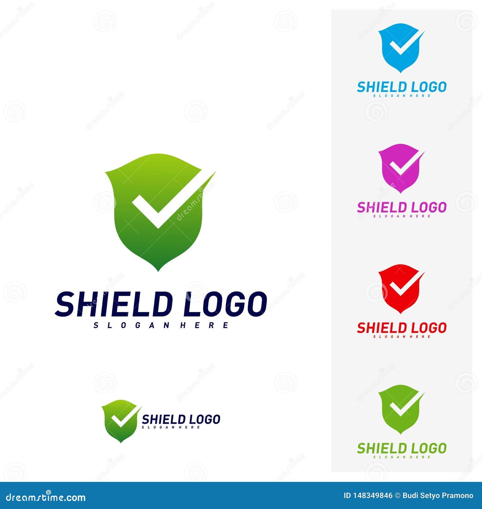 Contrôle Logo Design Concept Vector de bouclier Conception d illustration de vecteur de qualité de bouclier Symbole d ic?ne