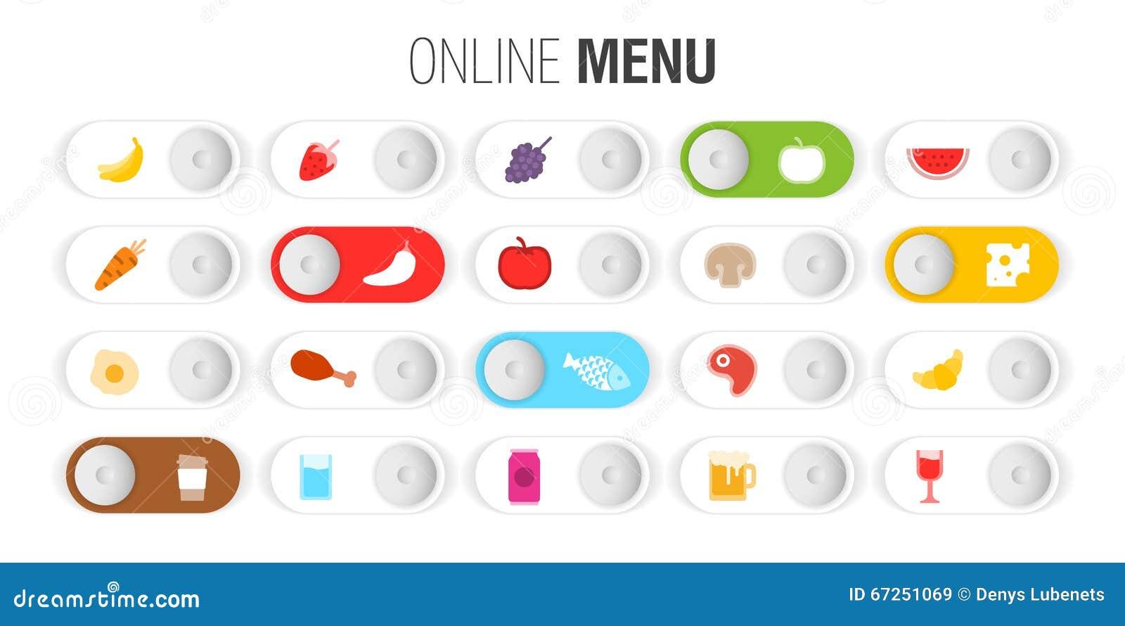 Contrôle de menu en ligne de symboles