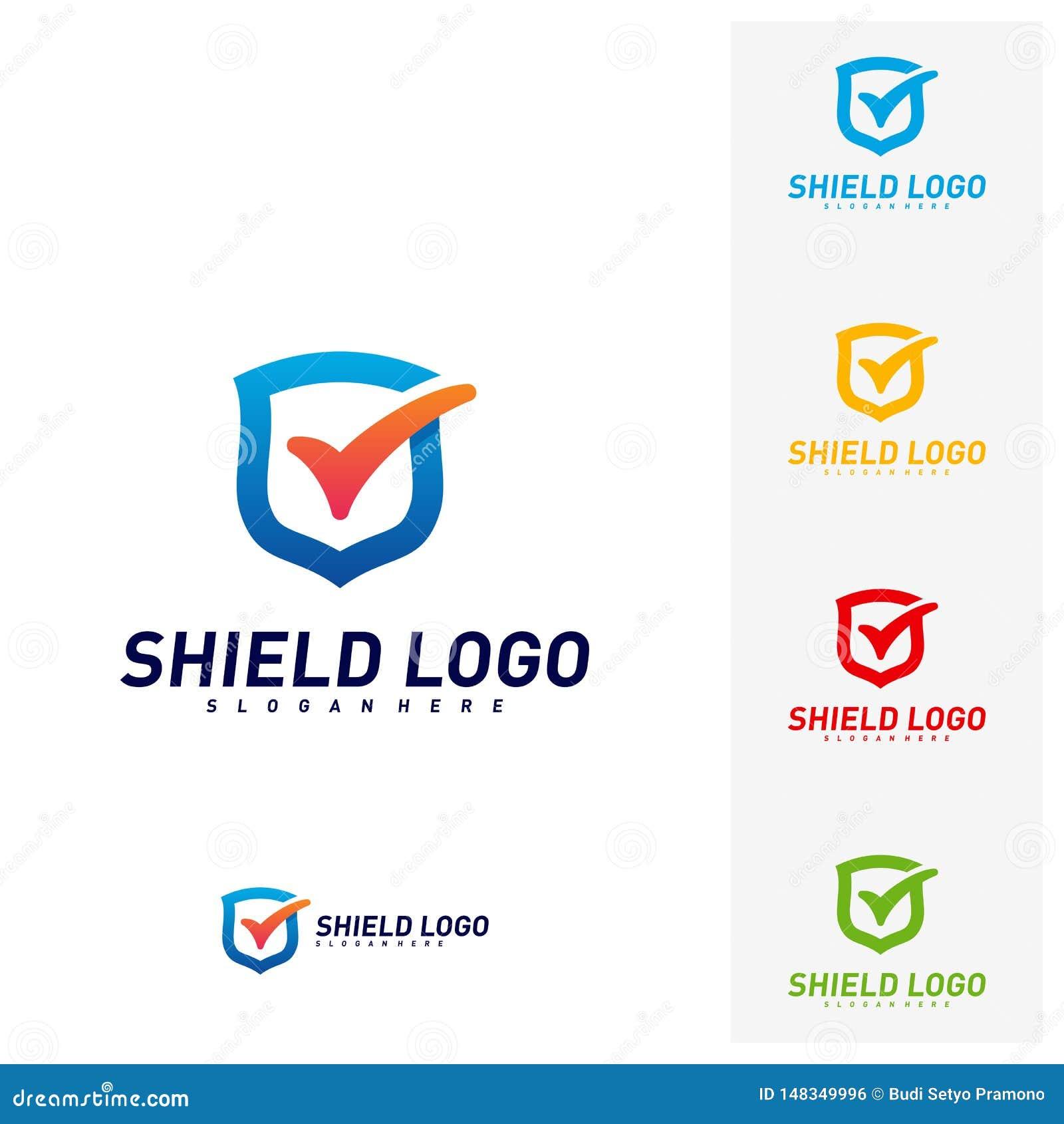 Contr?le Logo Design Concept Vector de bouclier Conception d illustration de vecteur de qualit? de bouclier Symbole d ic?ne