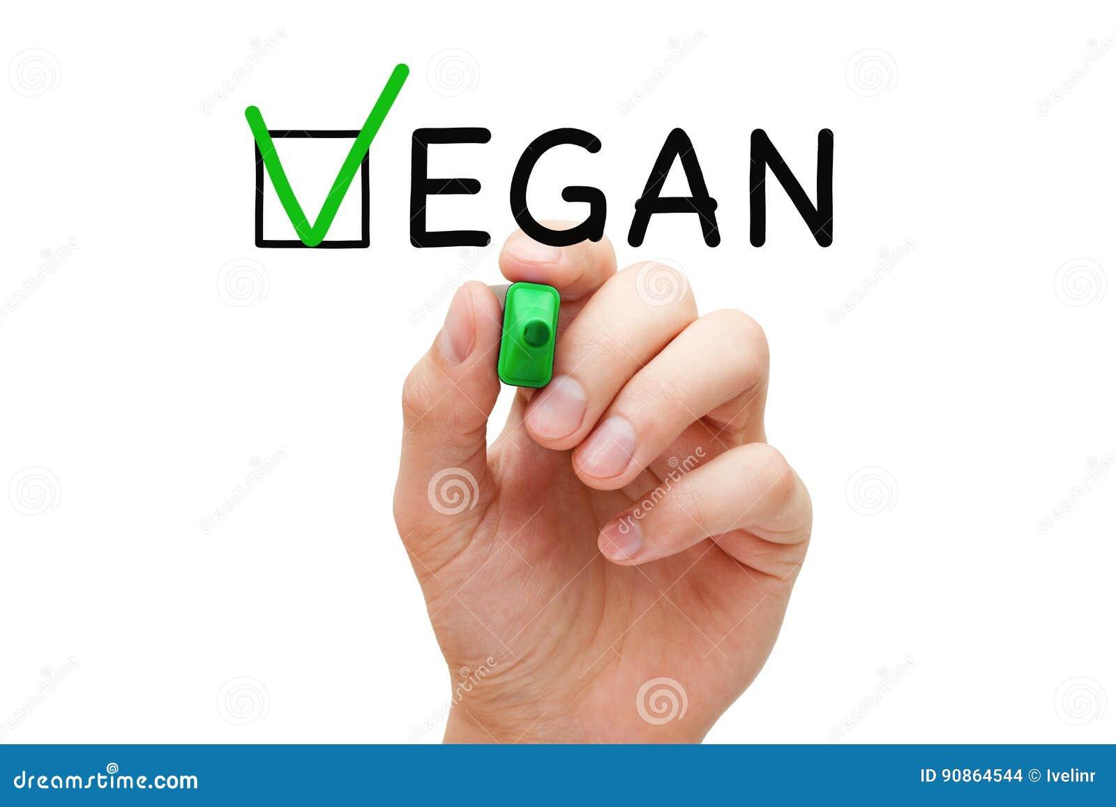 Contrôle Mark Concept de Vegan