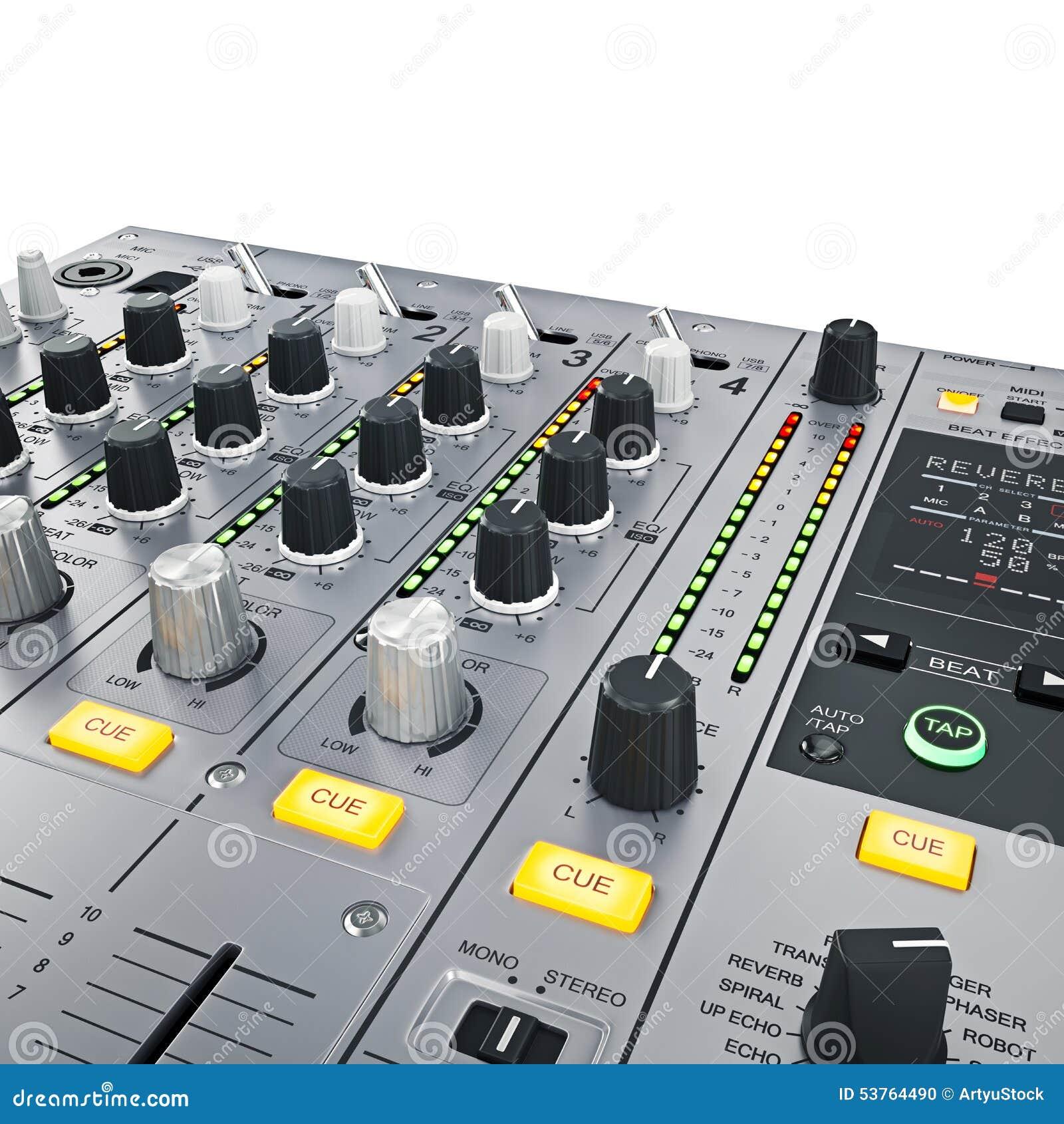 Contrôles de mélangeur du DJ