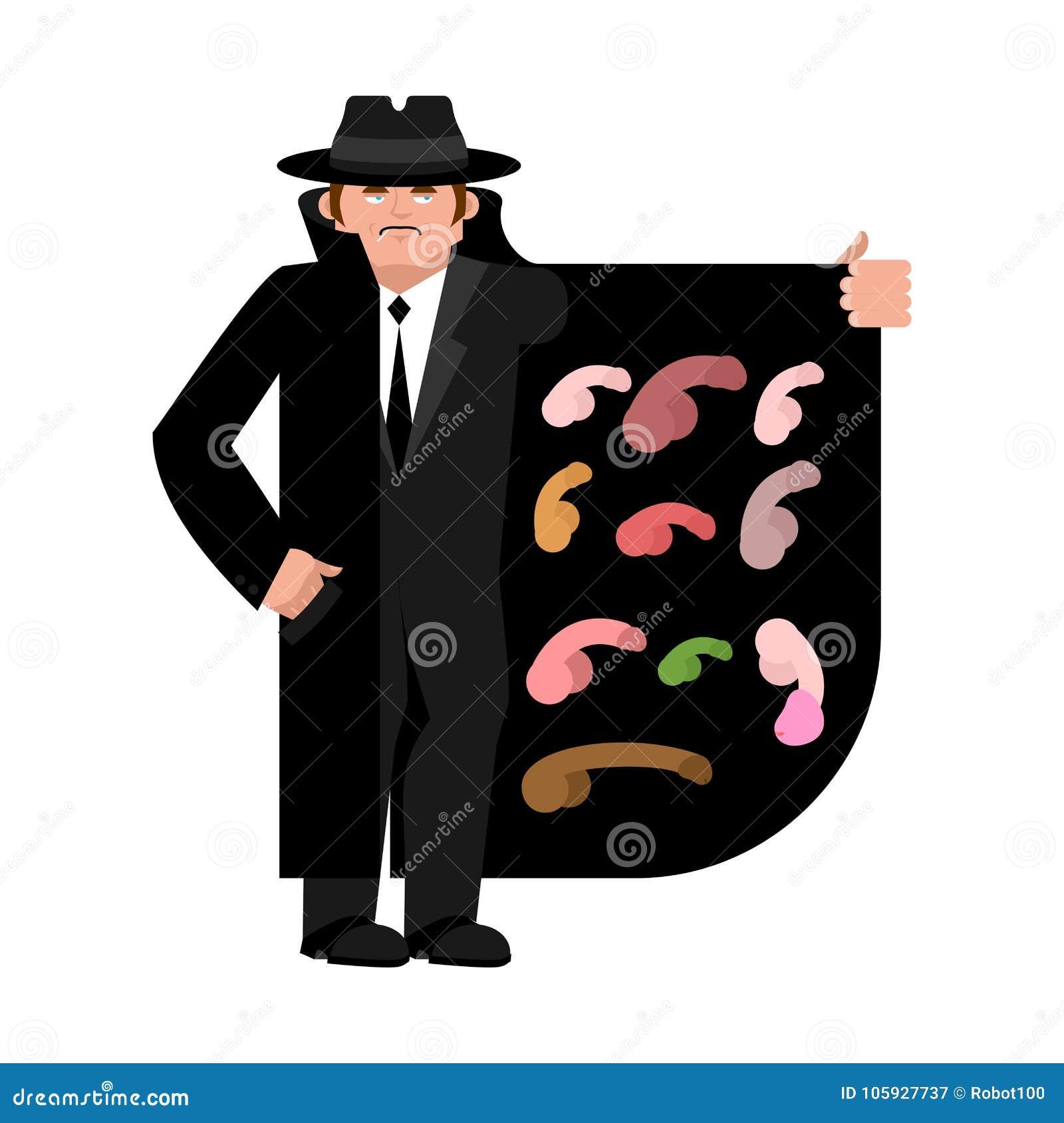 Contrabandista Que Vende El Pene órganos Del Varón Del Capa-vendedor ...