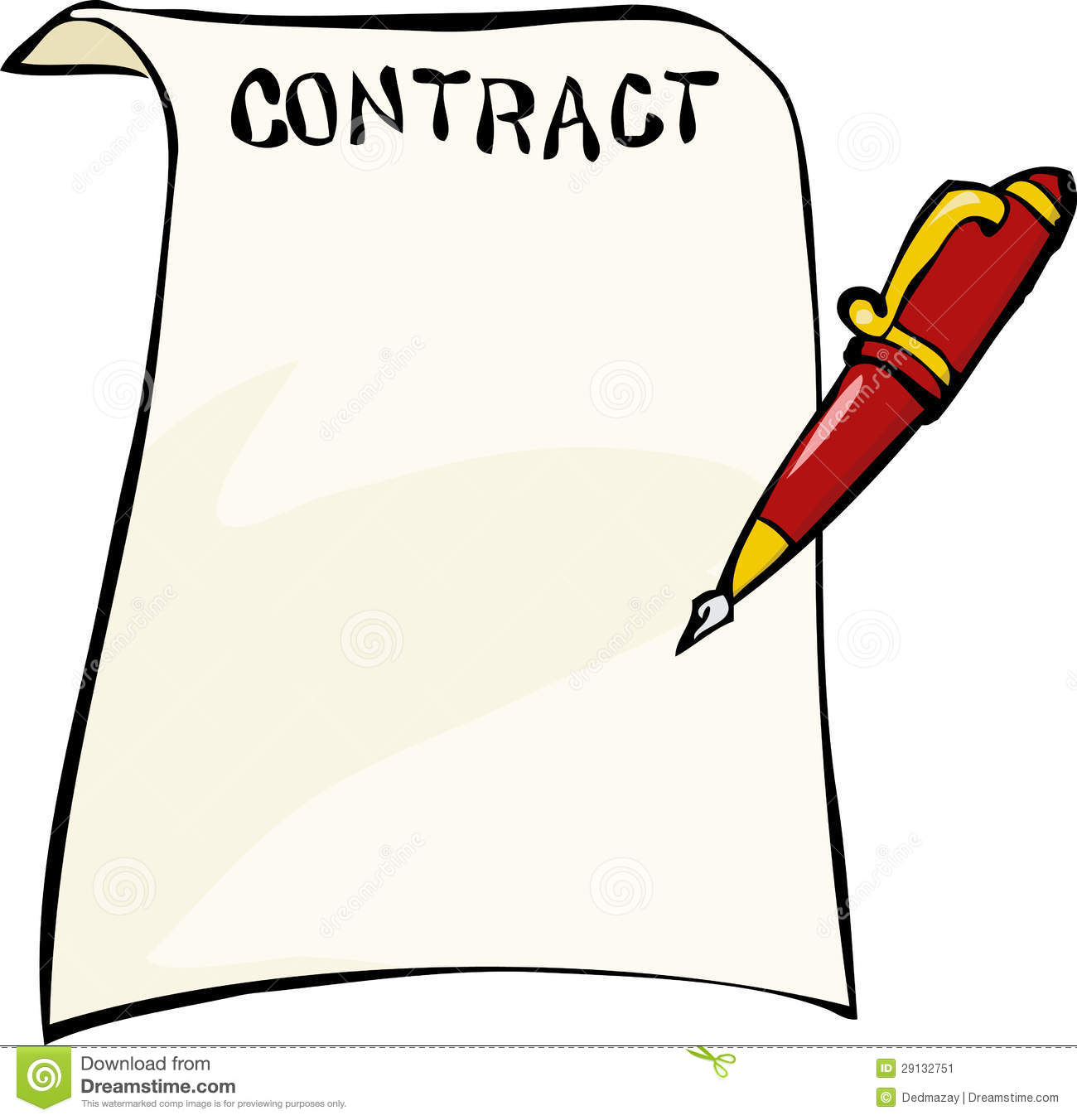 Contract Stock Image - Image: 29132751