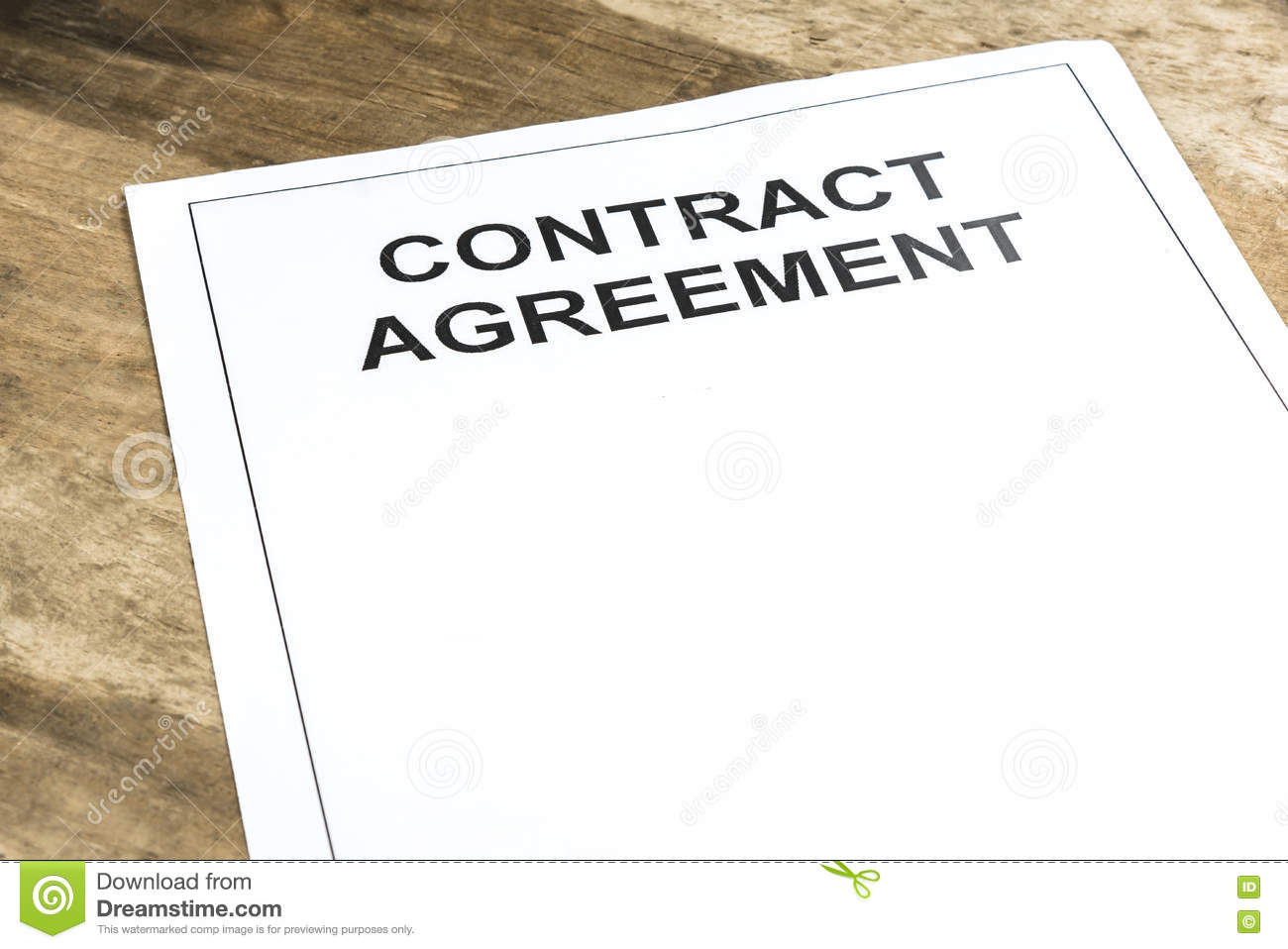 Contract agreement paper