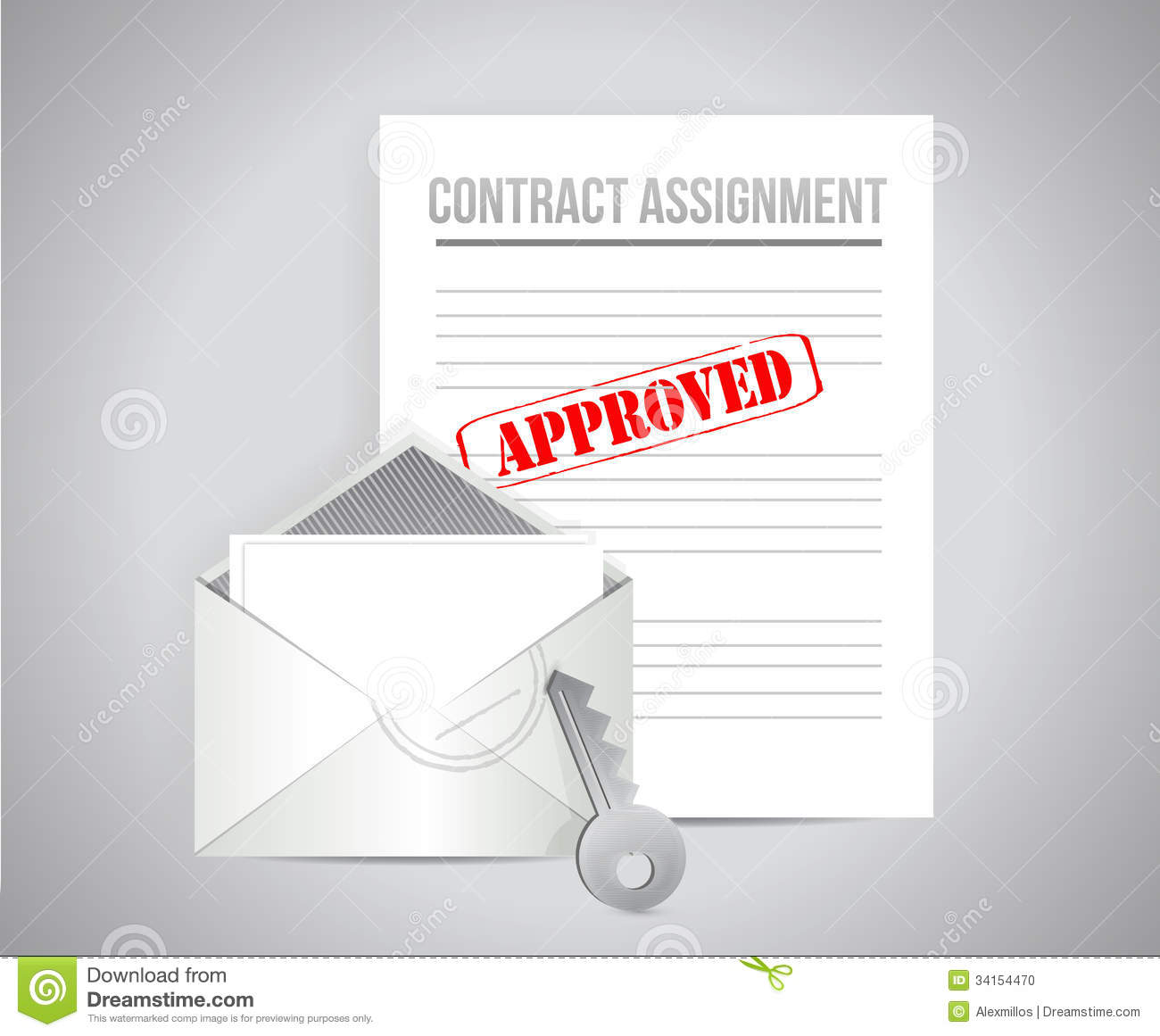 Contract Assignment Approved Concept Illustration Photo – Assignment of Contract