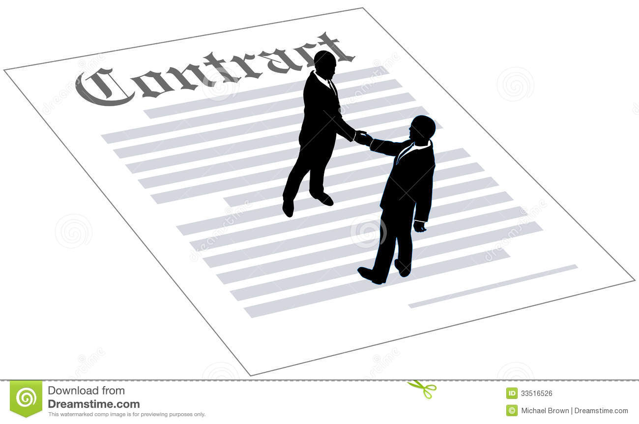 Contract Business People Sign Agreement Royalty Free Stock Image ...