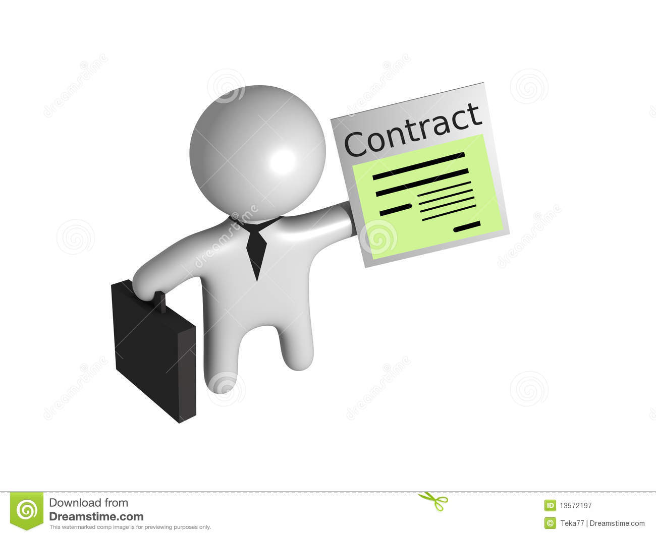Contract Guy 3d Stock Illustration Image Of Sign Sheet 13572197