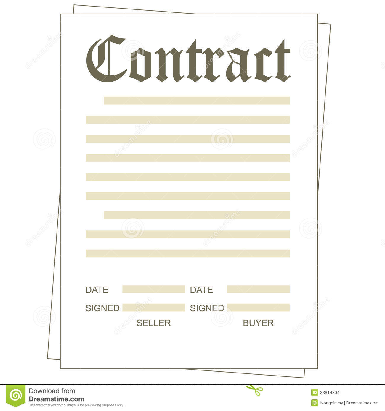 Contract Stock Vector Illustration Of Document Trust