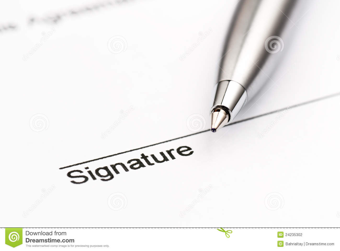 contract ready for signature stock photo