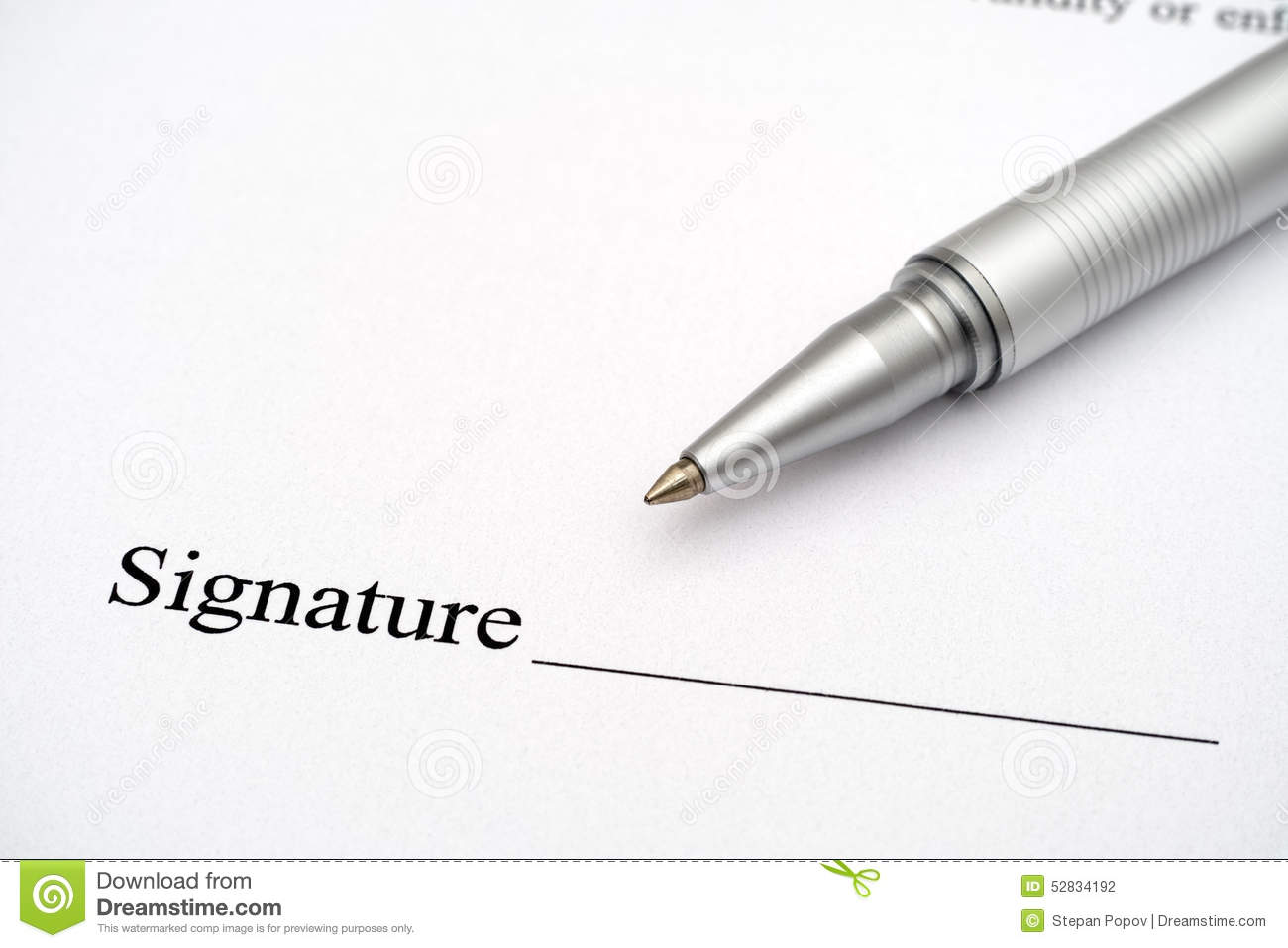 Contract Ready For Signature Stock Image