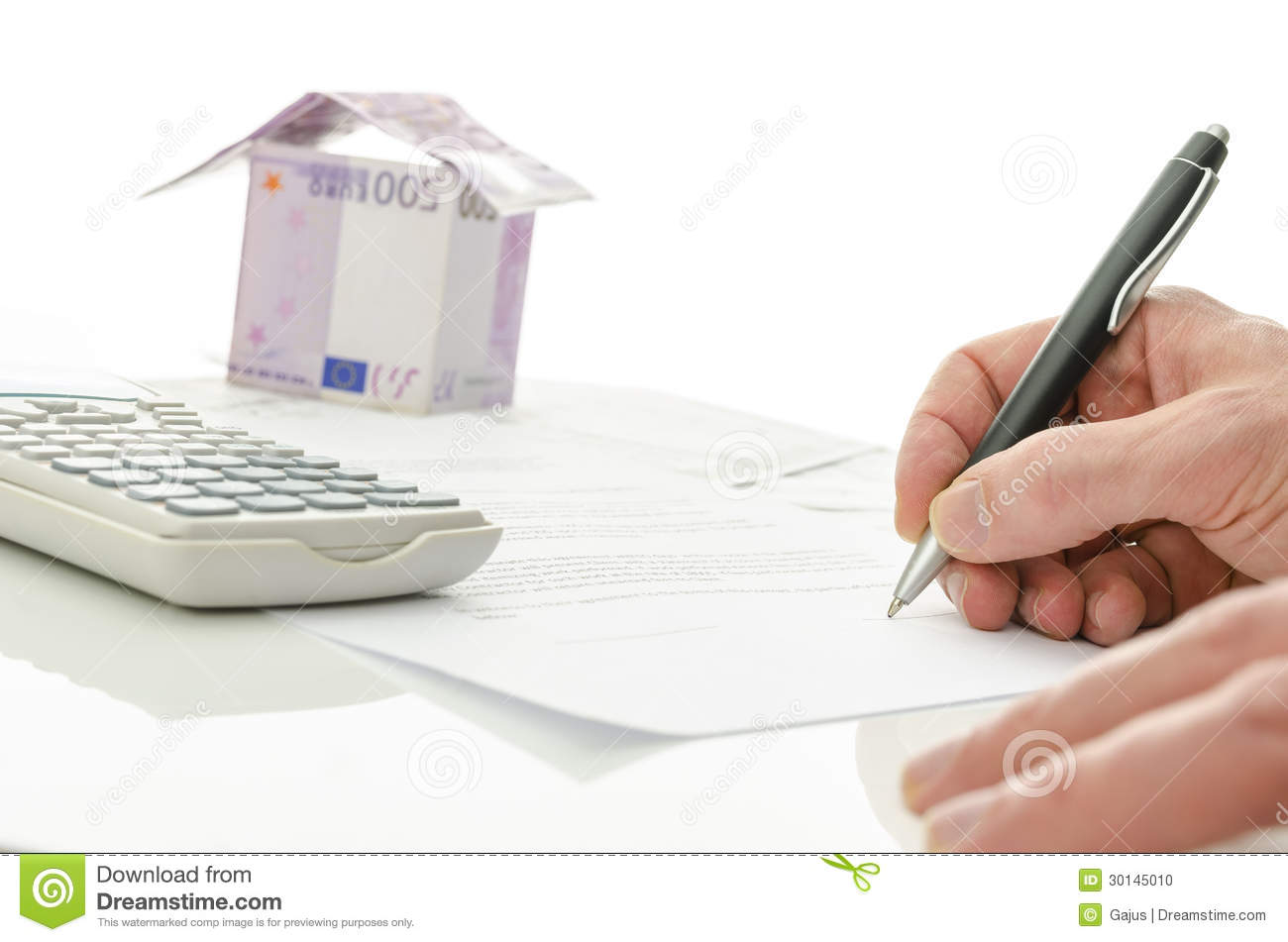 Signing contract of house sale royalty free stock photo - Mutuo casa in costruzione ...