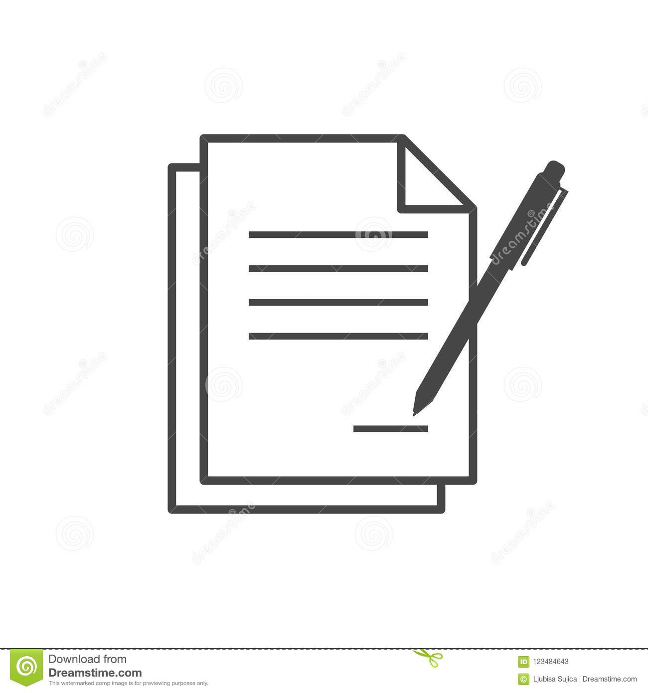 Legal Agreement Contract   Contract Signing Legal Agreement Concept Simple Vector Icon Stock