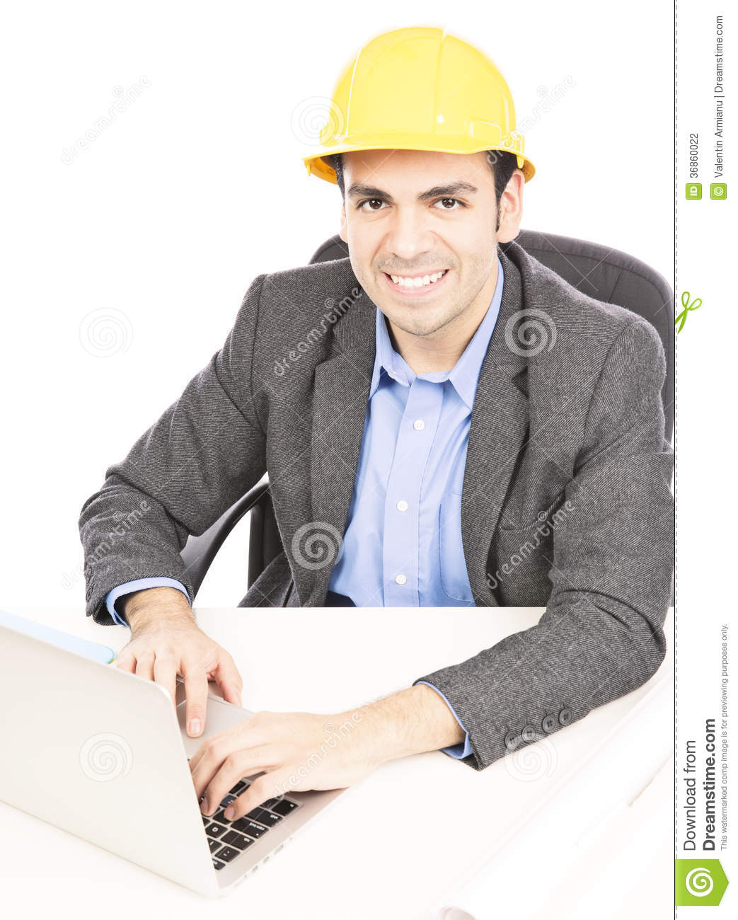 Contractor in office
