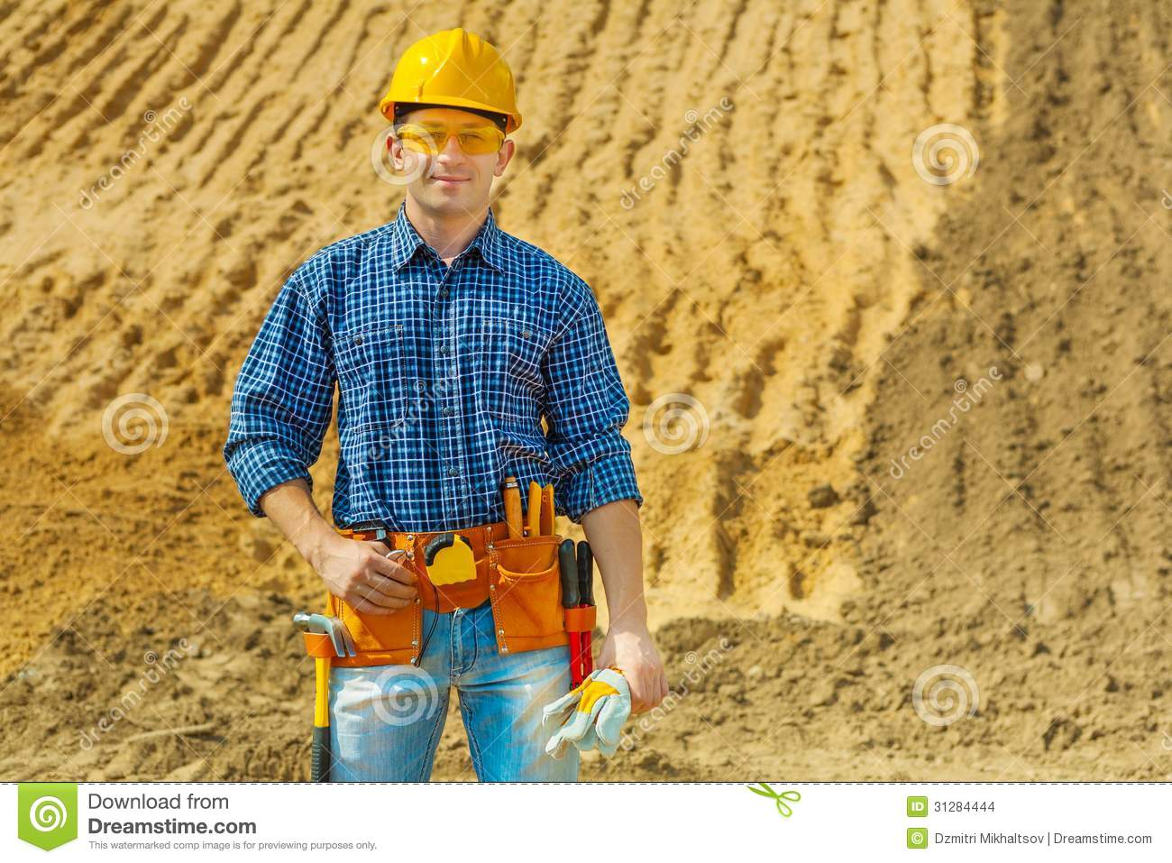 Contractor smiling stock images image 31284444 for Contractors needed to build a house