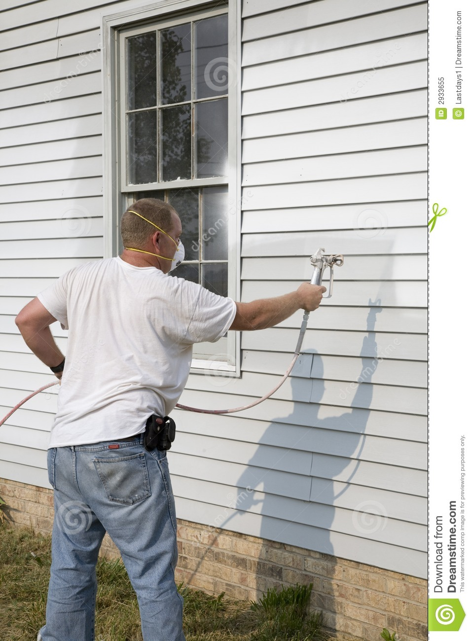 Contractor Spray Painting Royalty Free Stock Photo Image 2933655