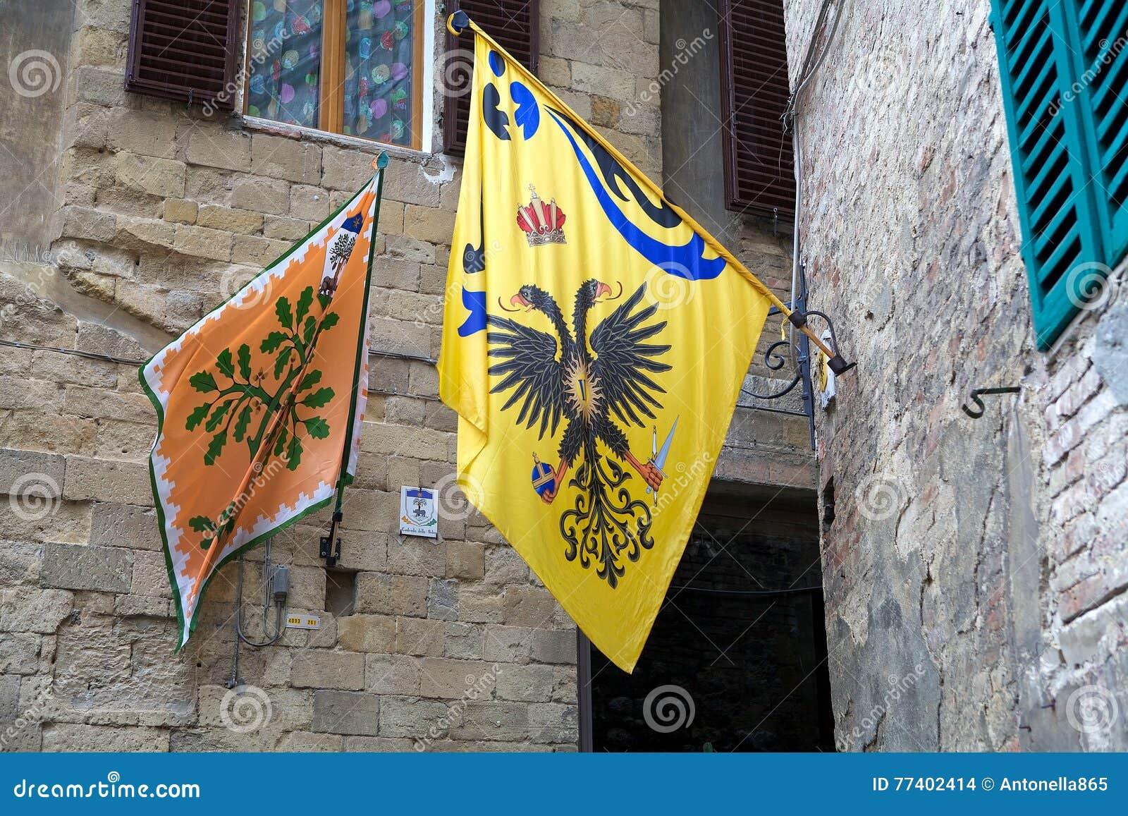 Contrade de Siena, Toscânia, Itália