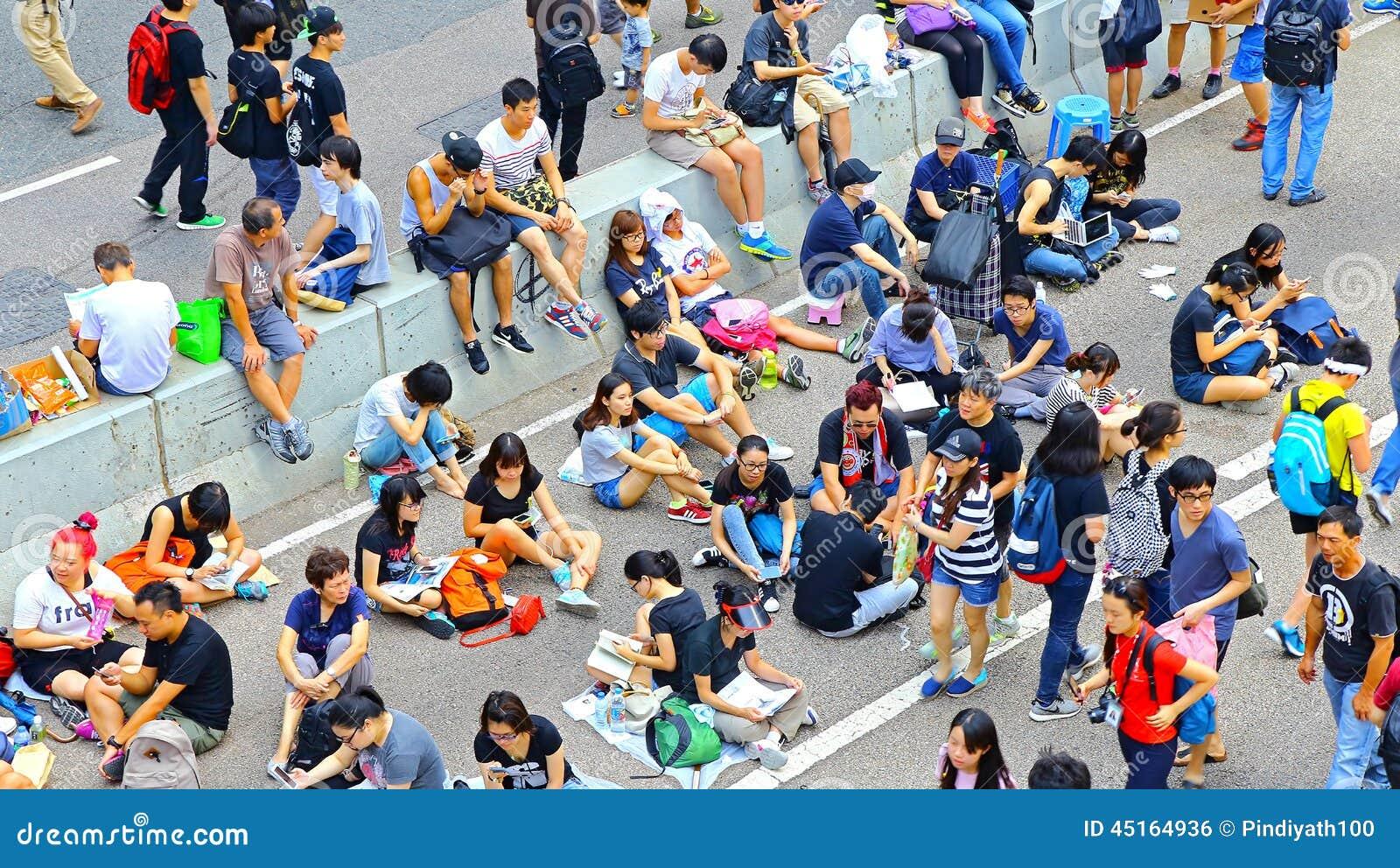 Contrappeso a Ministero della marina, Hong Kong dei dimostratori