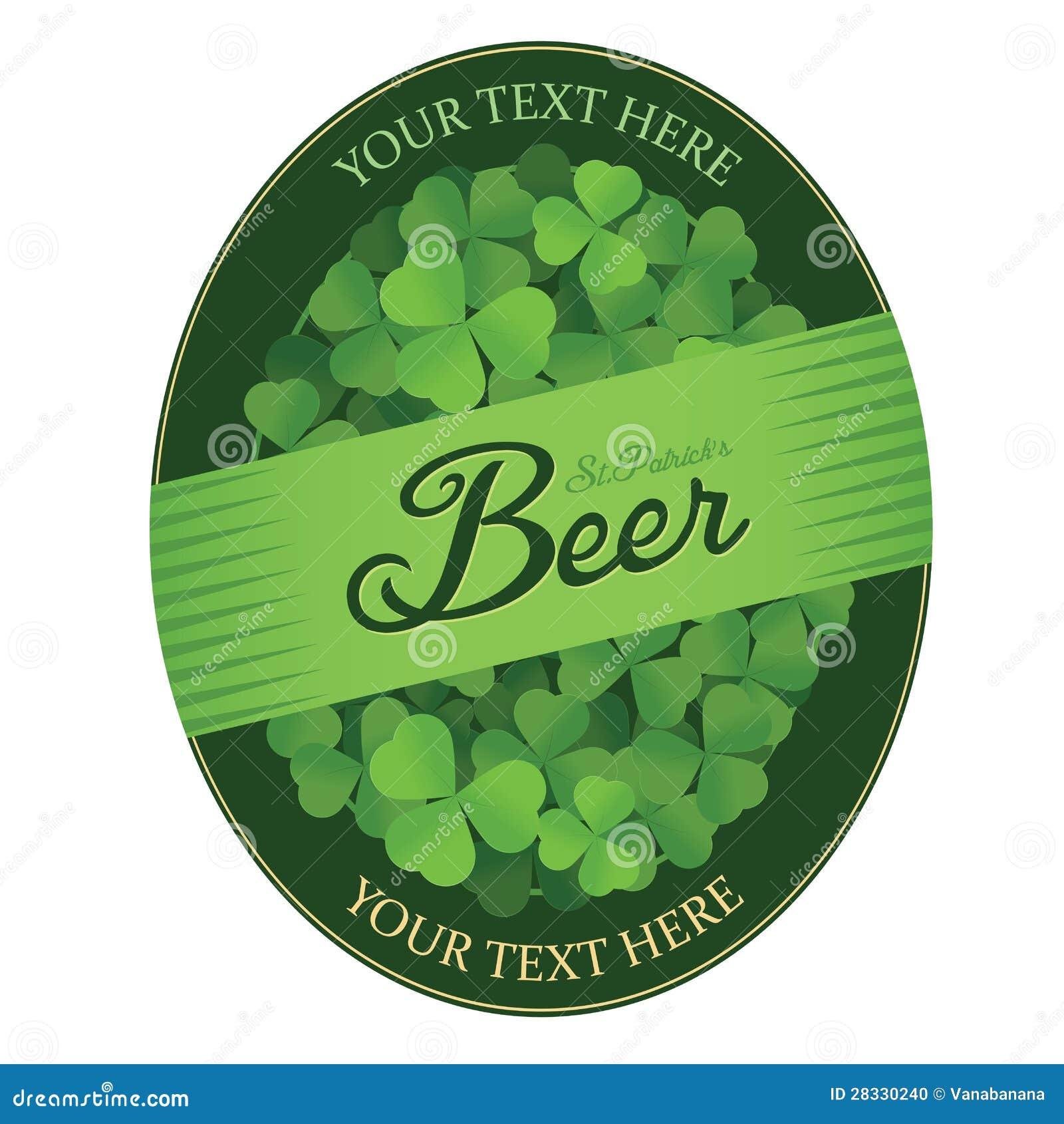 Contrassegno su ordinazione della birra del giorno di st - St patricks giorno fogli di colore giorno ...